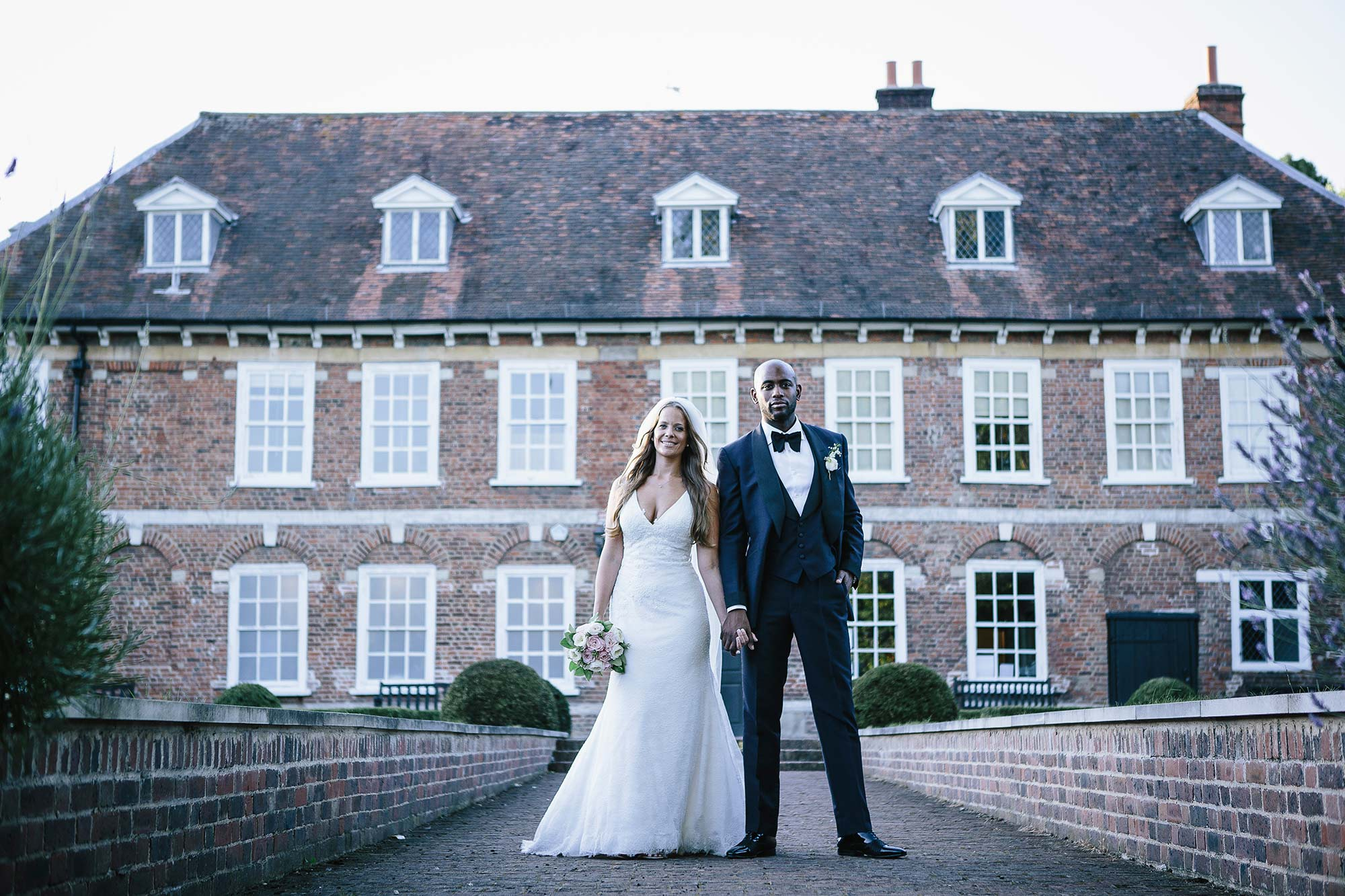 Bride and Groom portrait at Hall Place, Kent