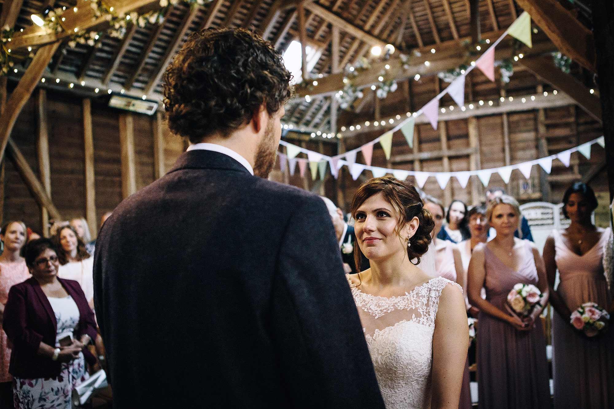 Wedding Ceremony at Herons Farm Barn