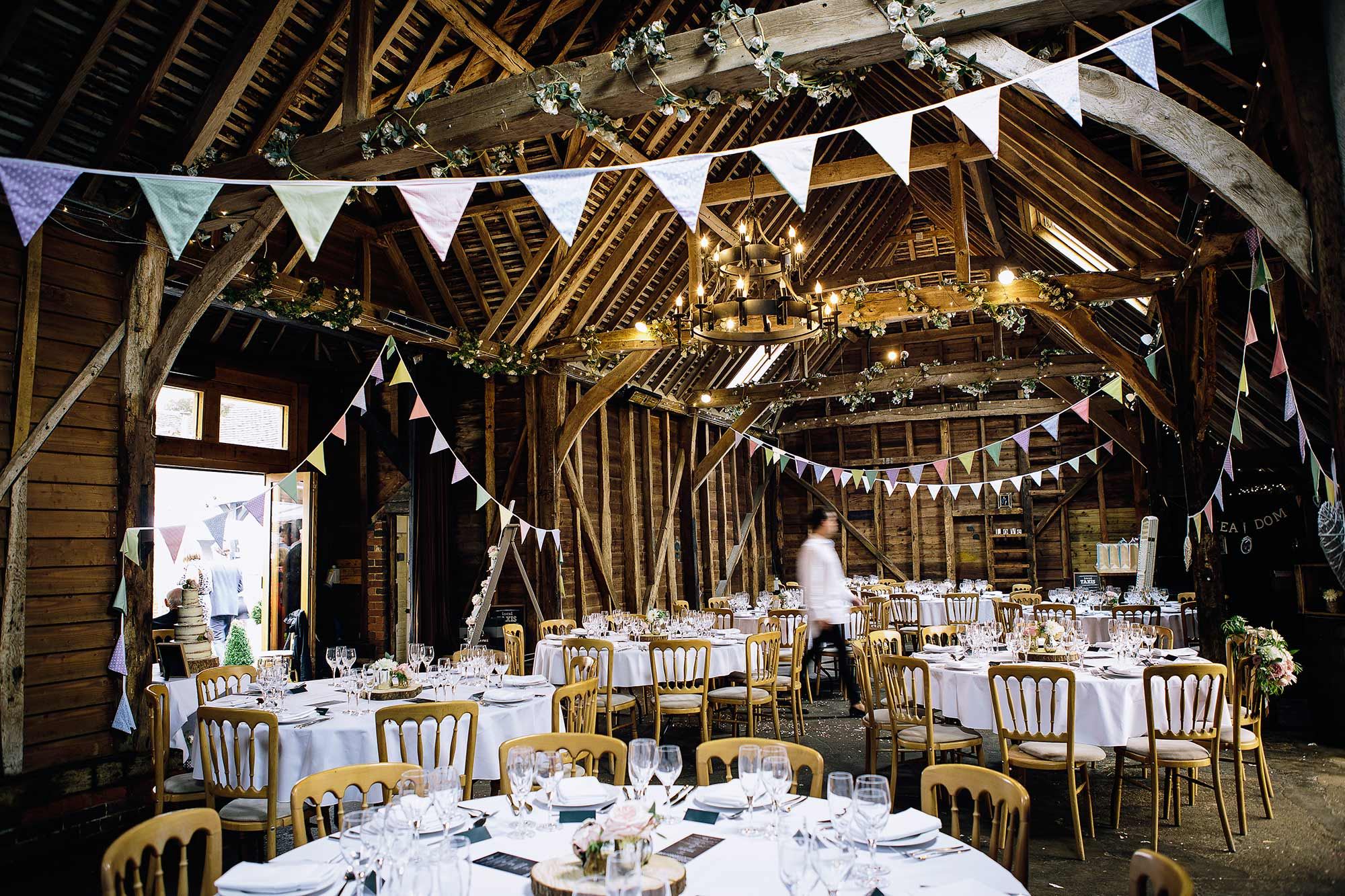 Wedding Reception at Herons Farm Barn, Pangbourne
