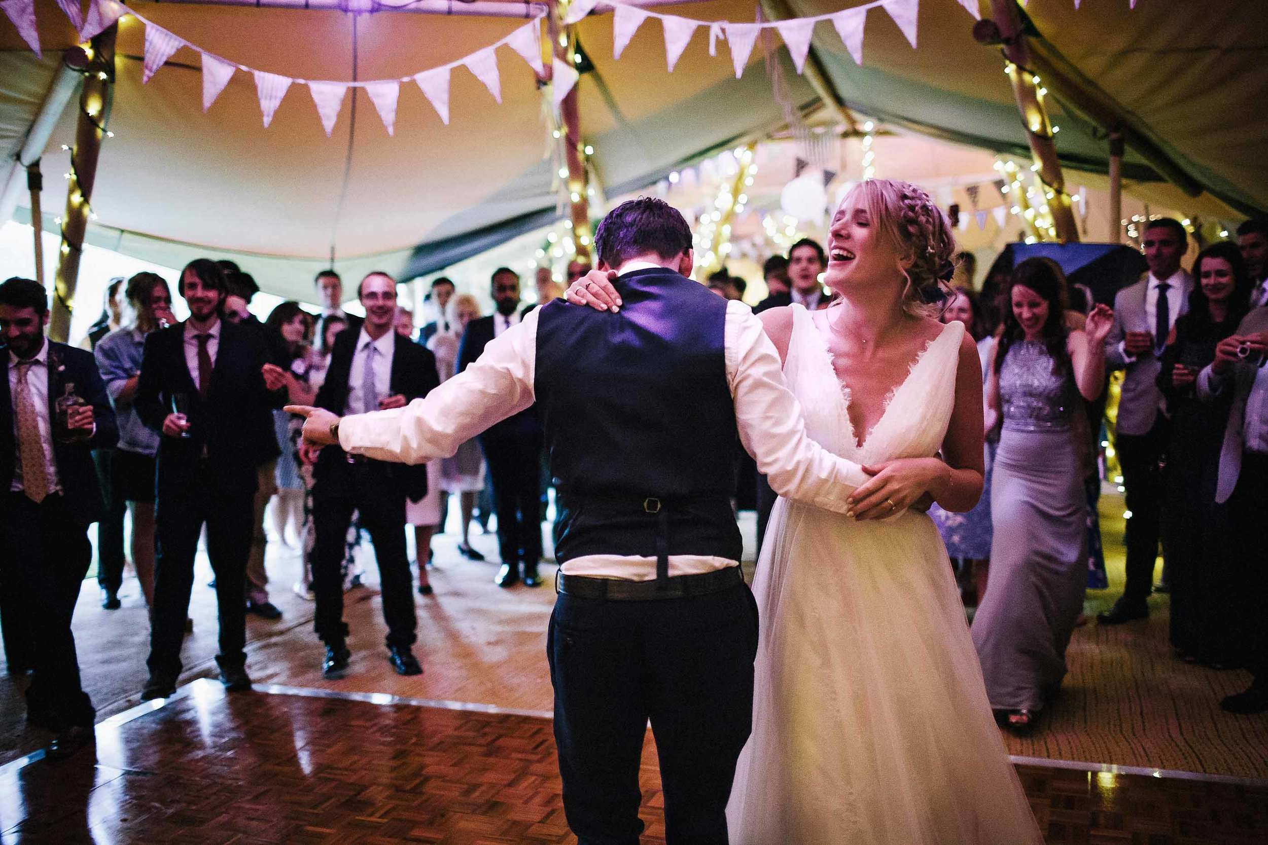 Rosie and Daniel's Festival styled wedding in Oxfordshire