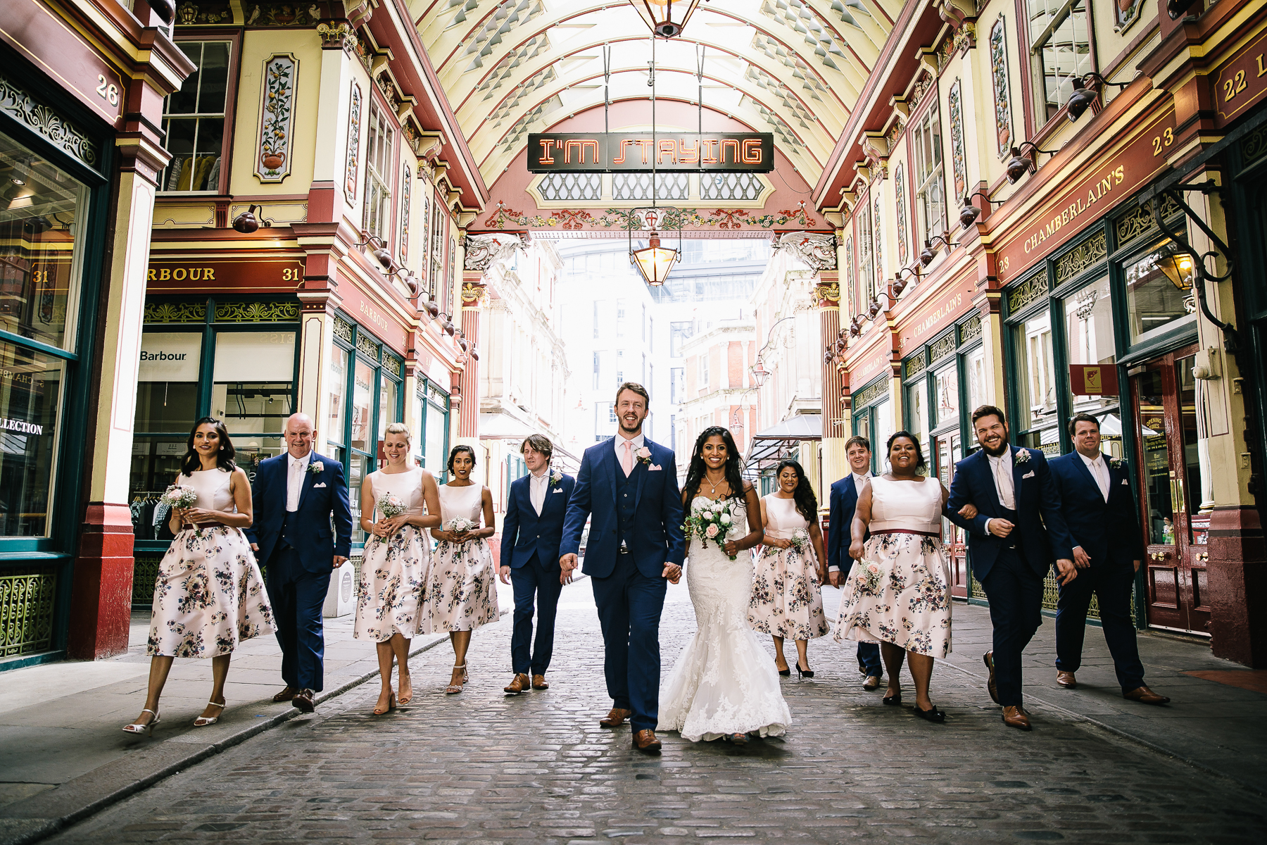 Wedding photographs from Mithulas and Stuarts wedding in Leadenhall market