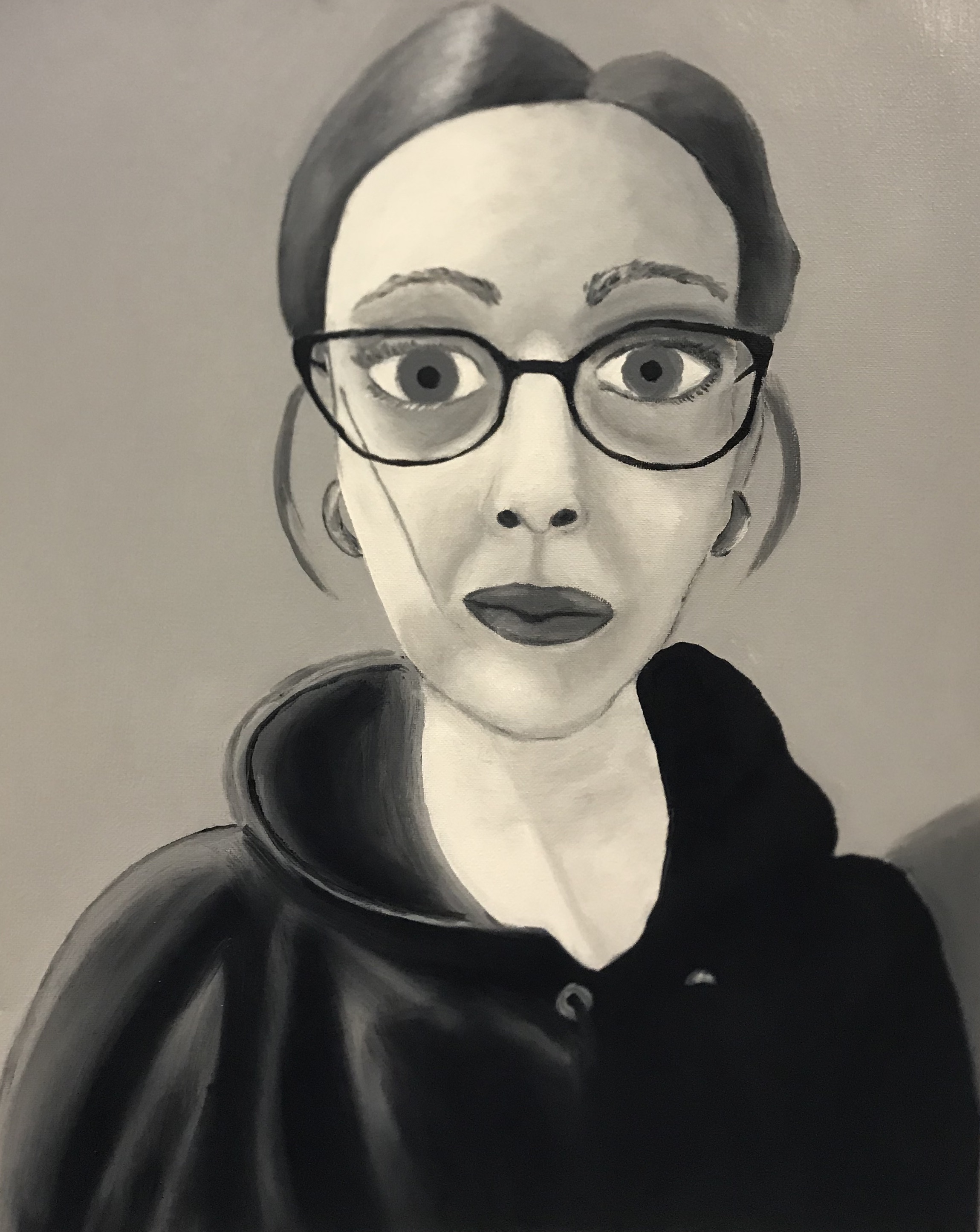 painting techniques: black and white underpainting