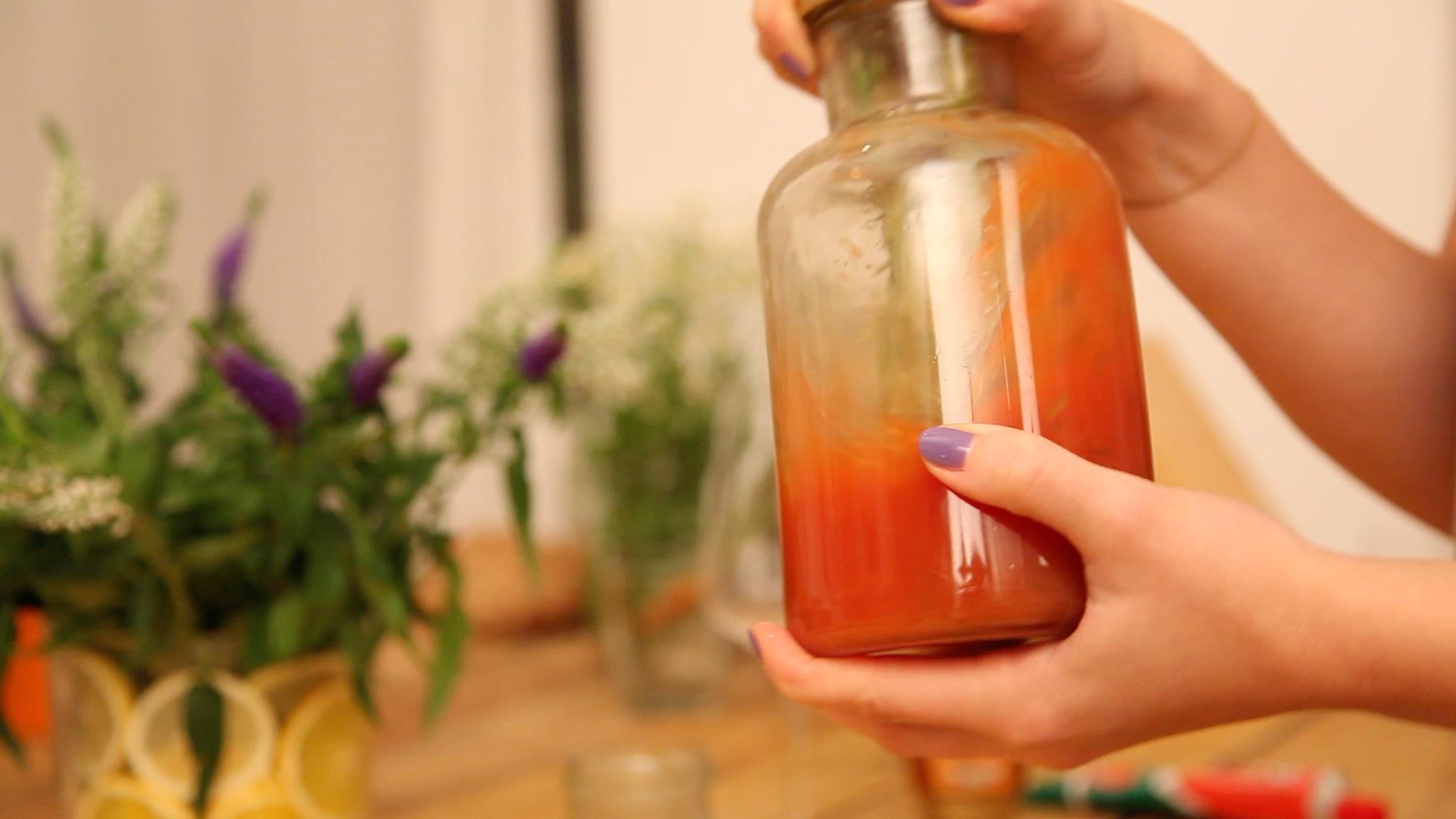 gut vermischen mit 3 EL Olivenöl