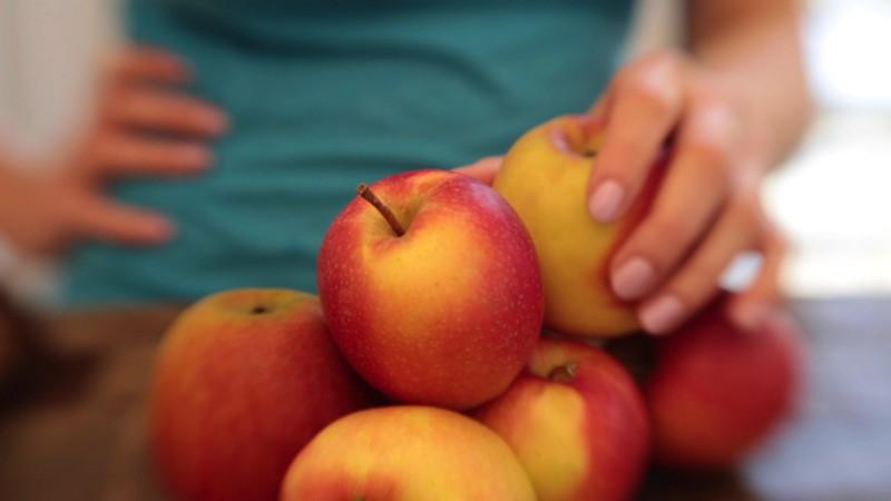 1 Apfel vierteln