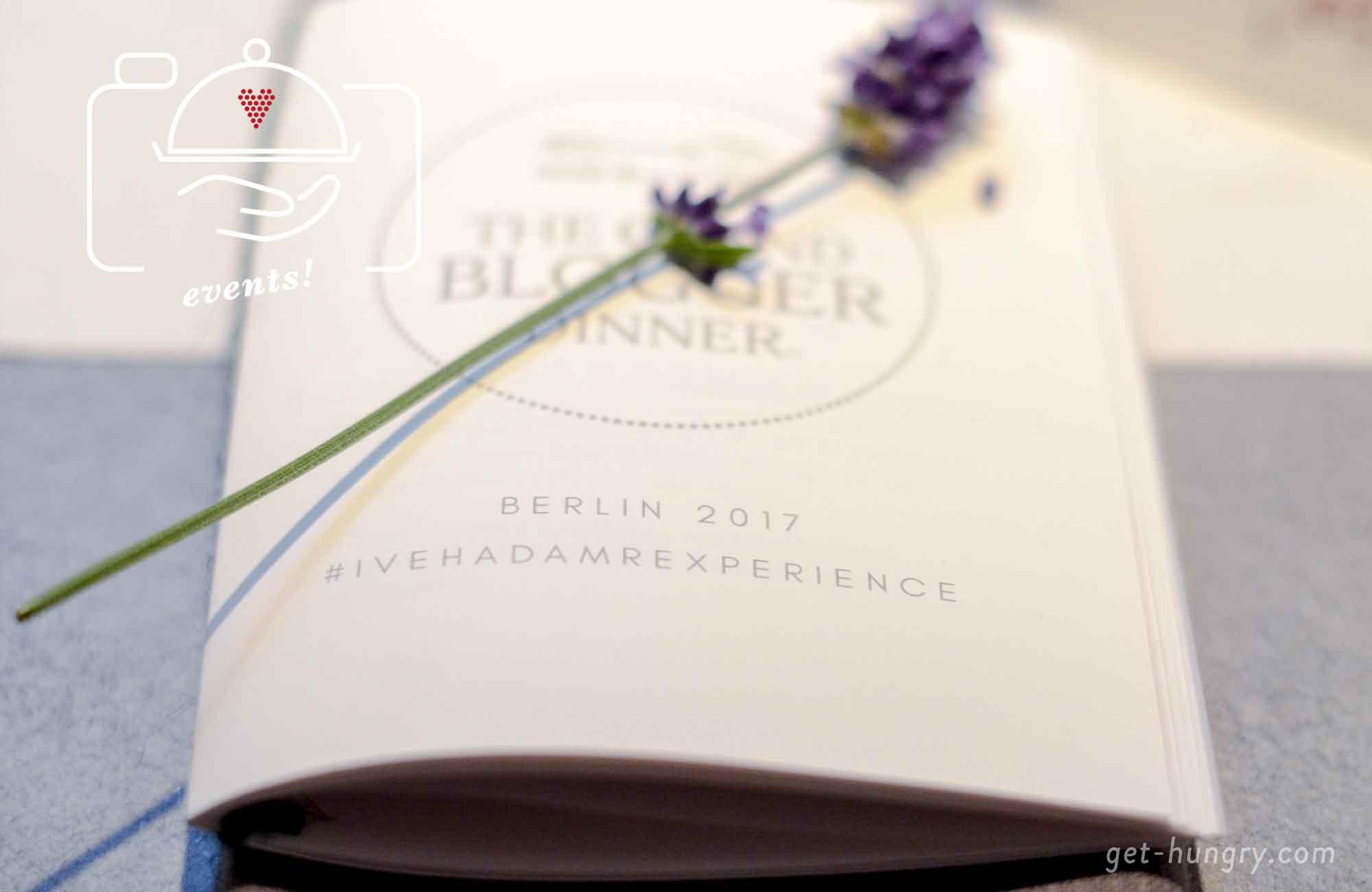 Blogger Dinner 2017 Menükarten