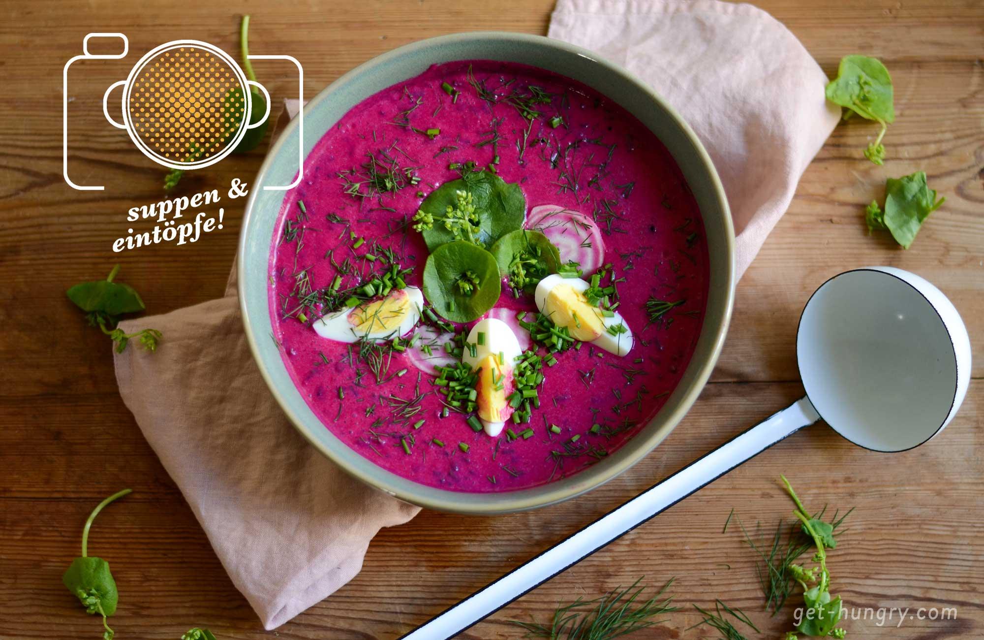 Kalte Rote Bete Suppe nach Polnischer Art - Chlodnik