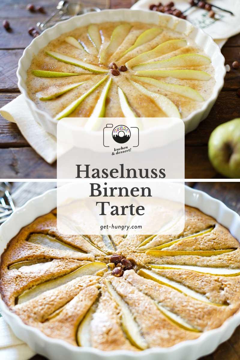 Haselnuss-Birnentarte
