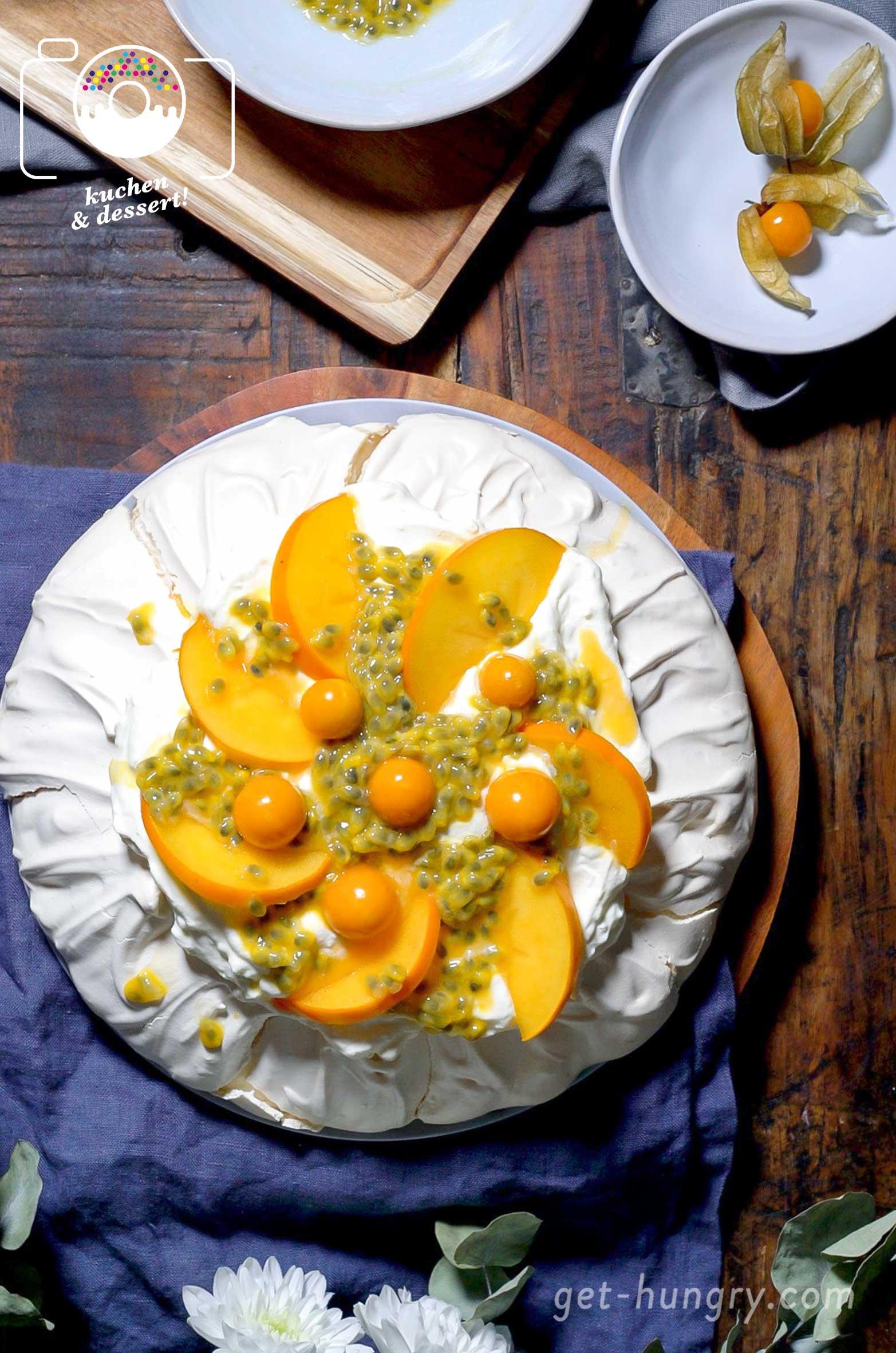 Die Pavlowa oder Pavlova - Einfach perfekt für die kalte Jahreszeit und somit als Dessert für Weihnachten oder auch Silvester bestens geeignet.