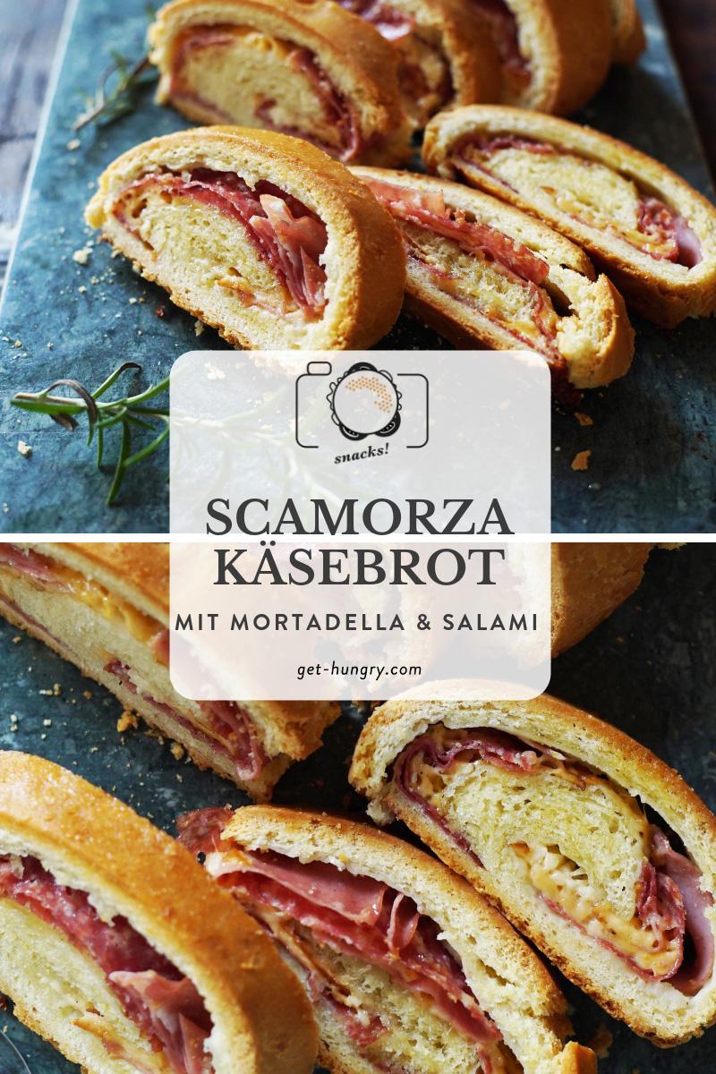 Scamorza-Käsebrot mit Mortadella und Salami - Tortano del Matese