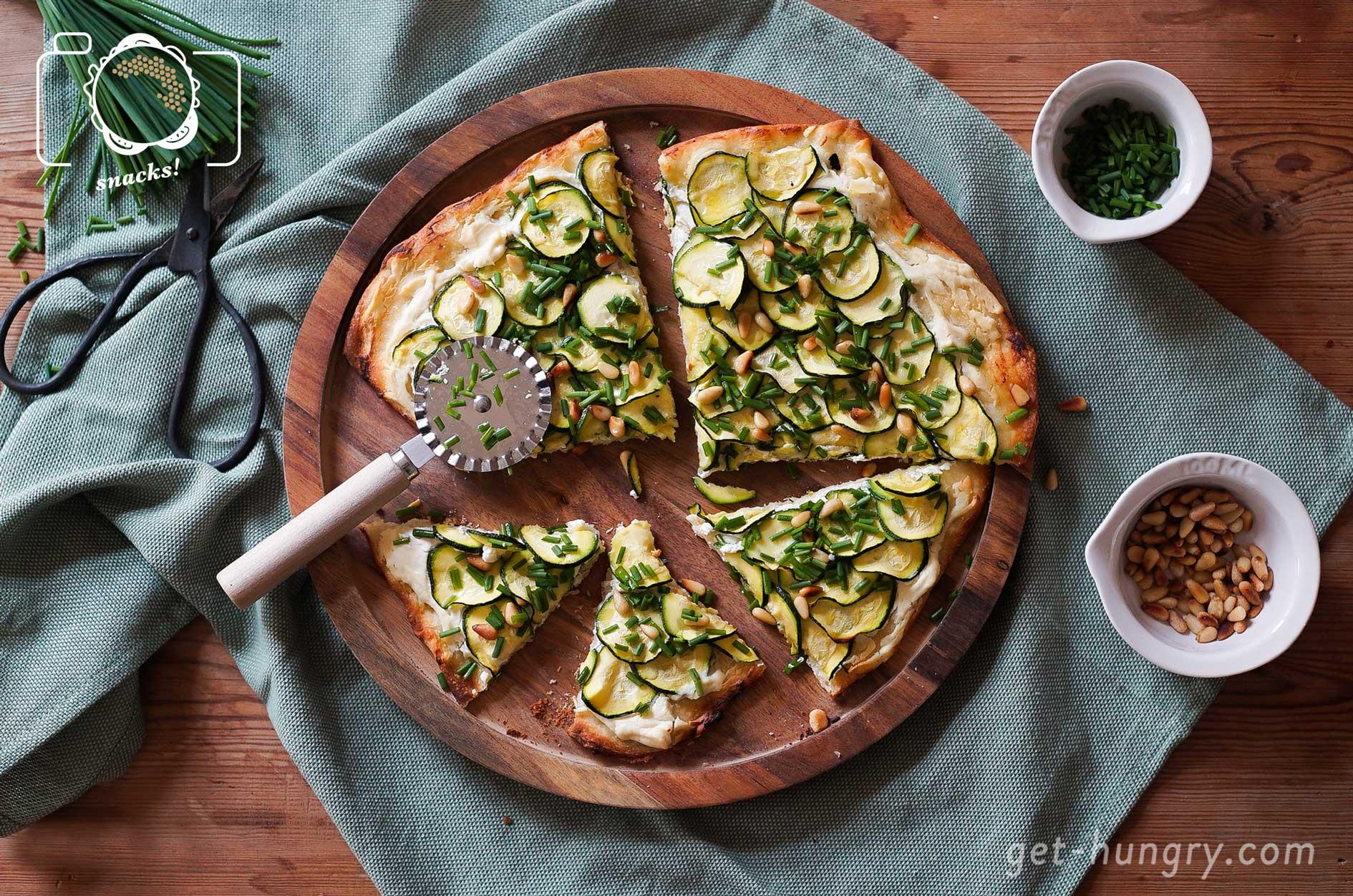 Zucchini-Ricotta-Pizza