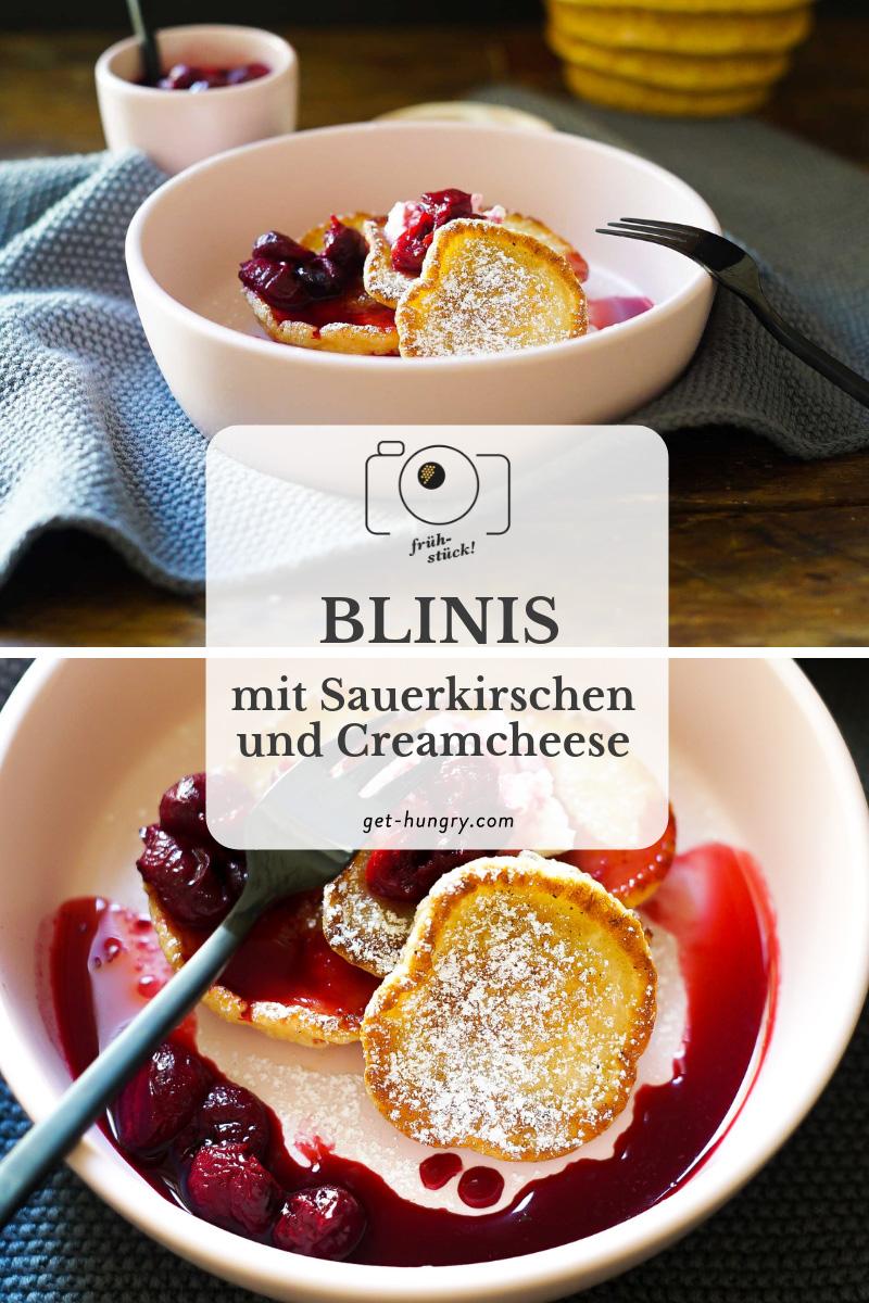 Blinis mit Sauerkirschen