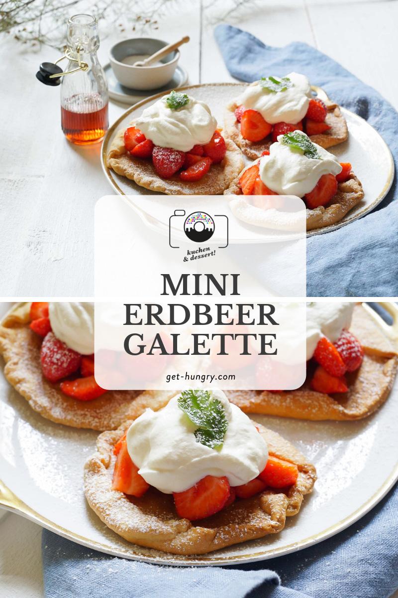Mini-Erdbeer-Galette mit Vanille-Sahne