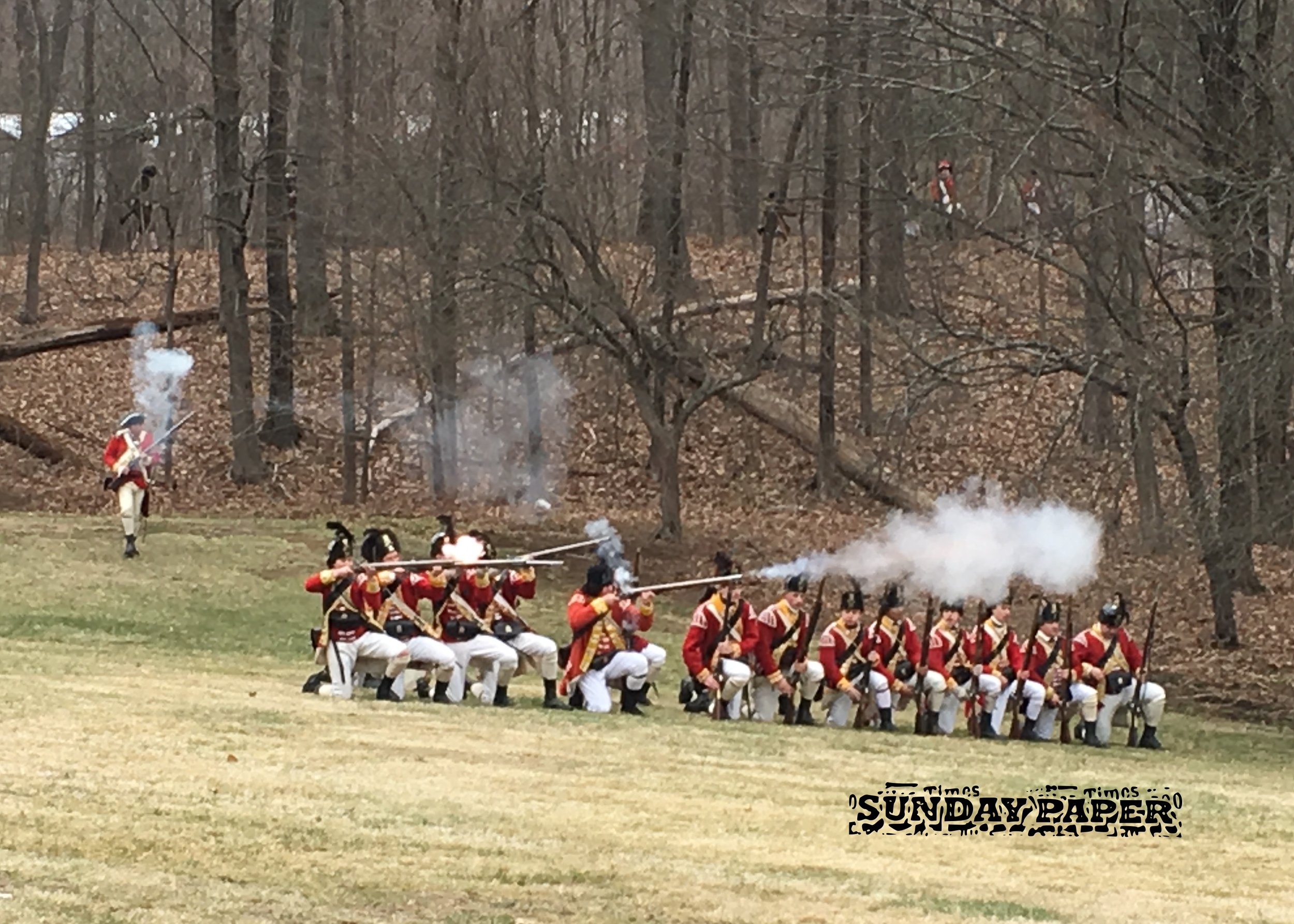 We did check out a re-enactment on Saturday in Lexington.
