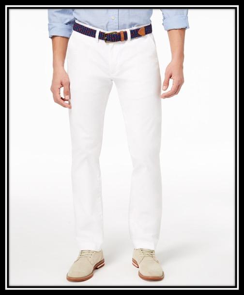 Tommy Hilfiger Men's TH Flex Stretch Custom-Fit Chino Pant $59.98