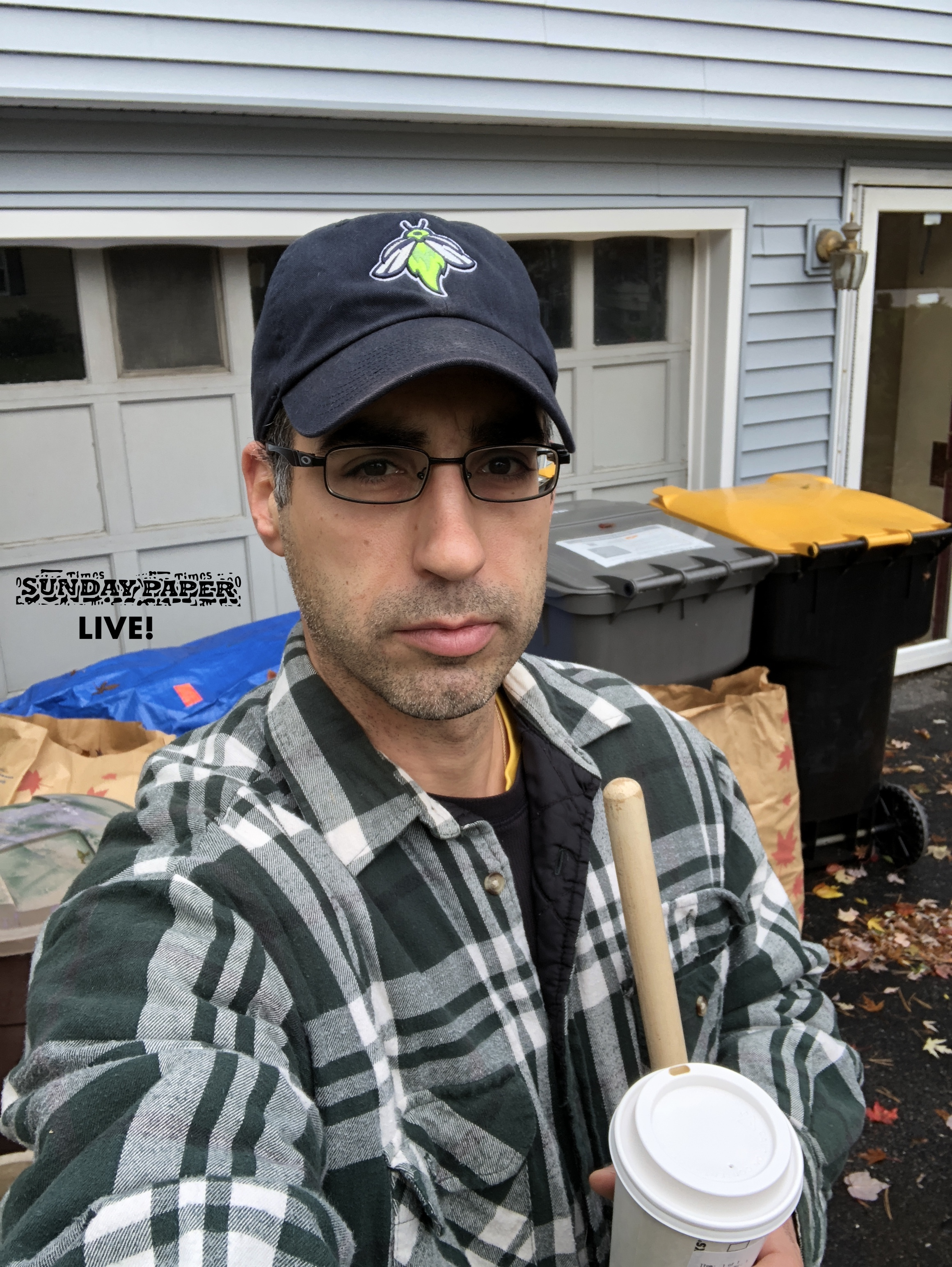 Yes, I'm reusing the Sunday Paper Live picture of me raking because I haven't taken another picture - I'm too busy RAKING! (But rest assured, I do wear the same thing every single time I rake, so it would pretty much look just like this.)