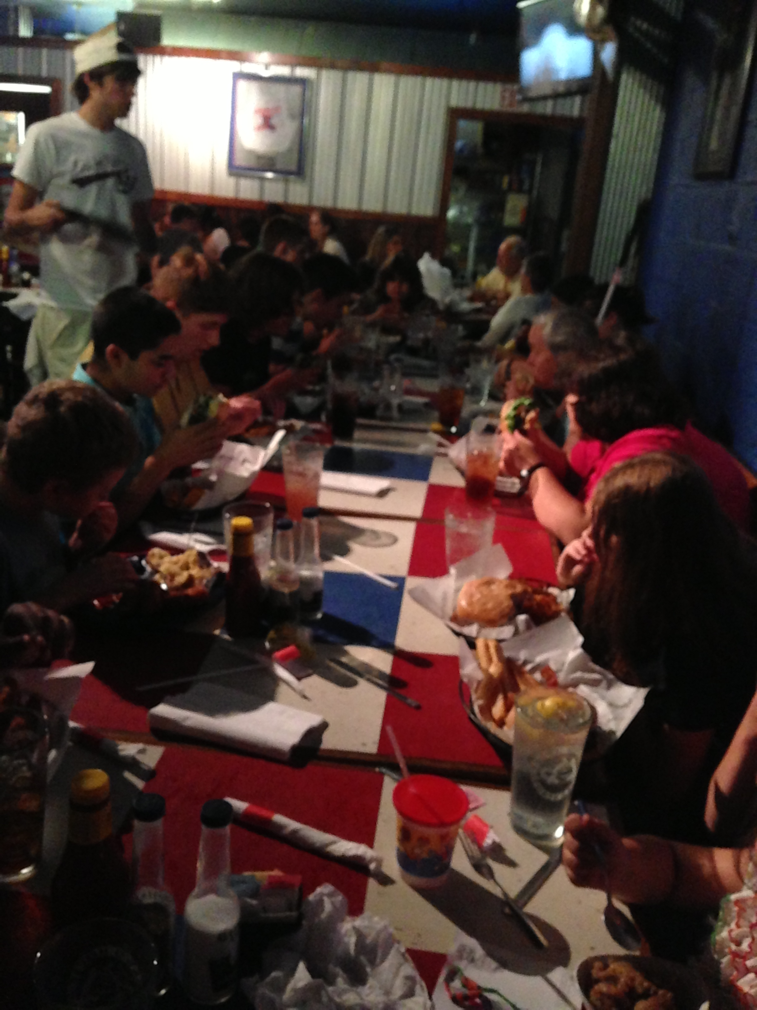 2013 STEP students and staff enjoy food and fellowship at the Dawg House Sports Grill!