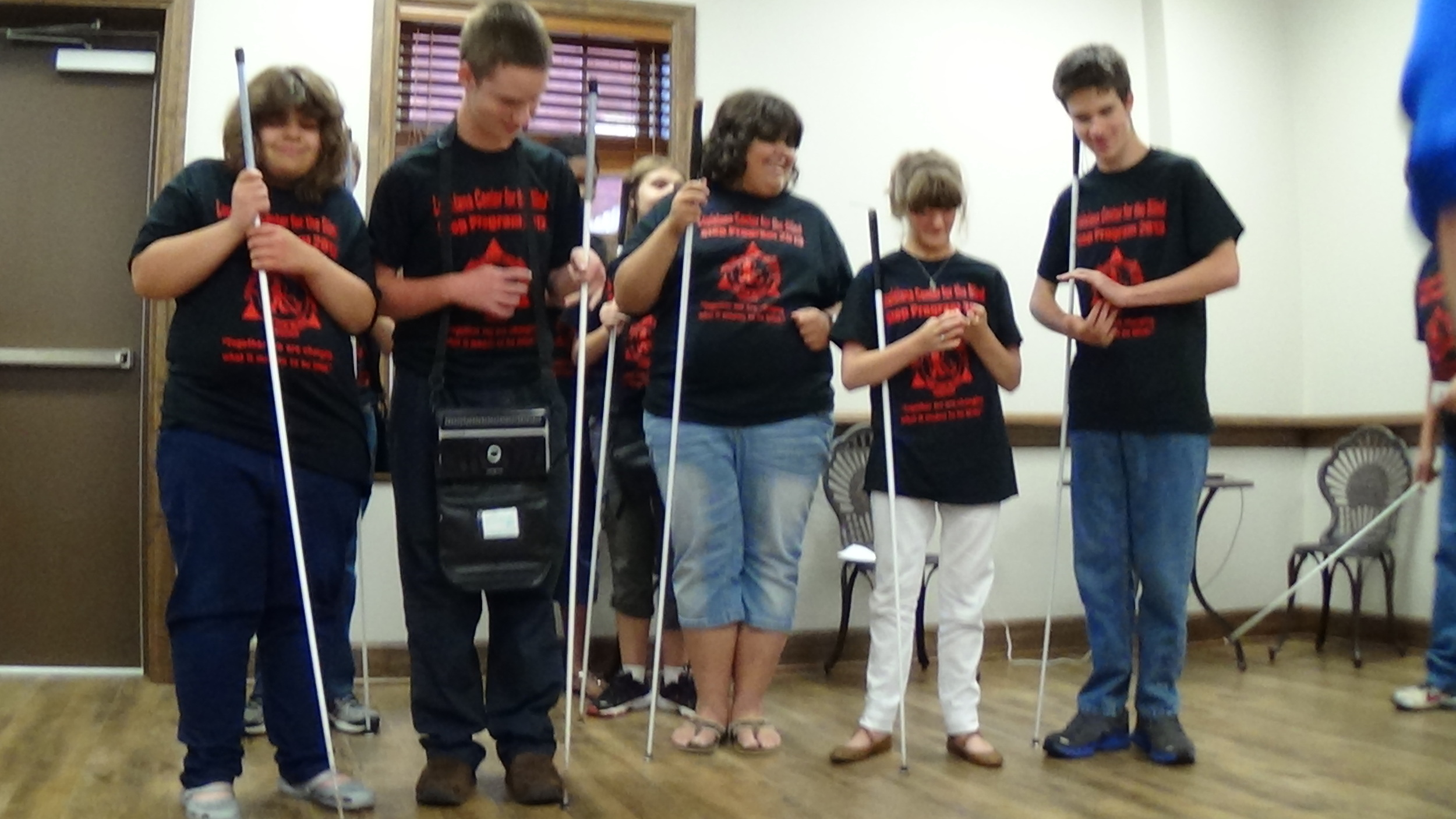 "2013 STEP students perform ""Long White Cane"" which was written by Sophie."