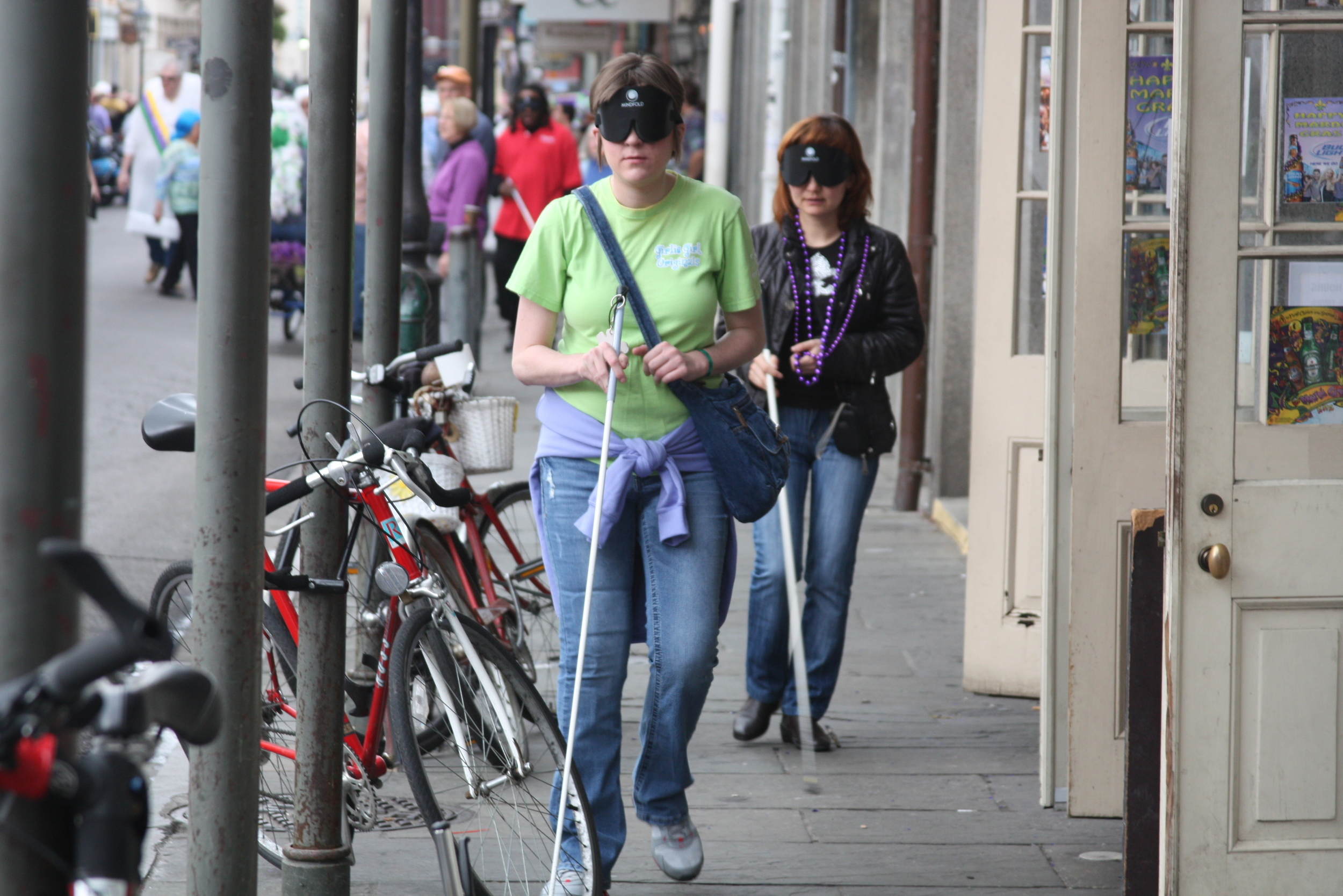 Katie and Gulnaz walking in French Quarter