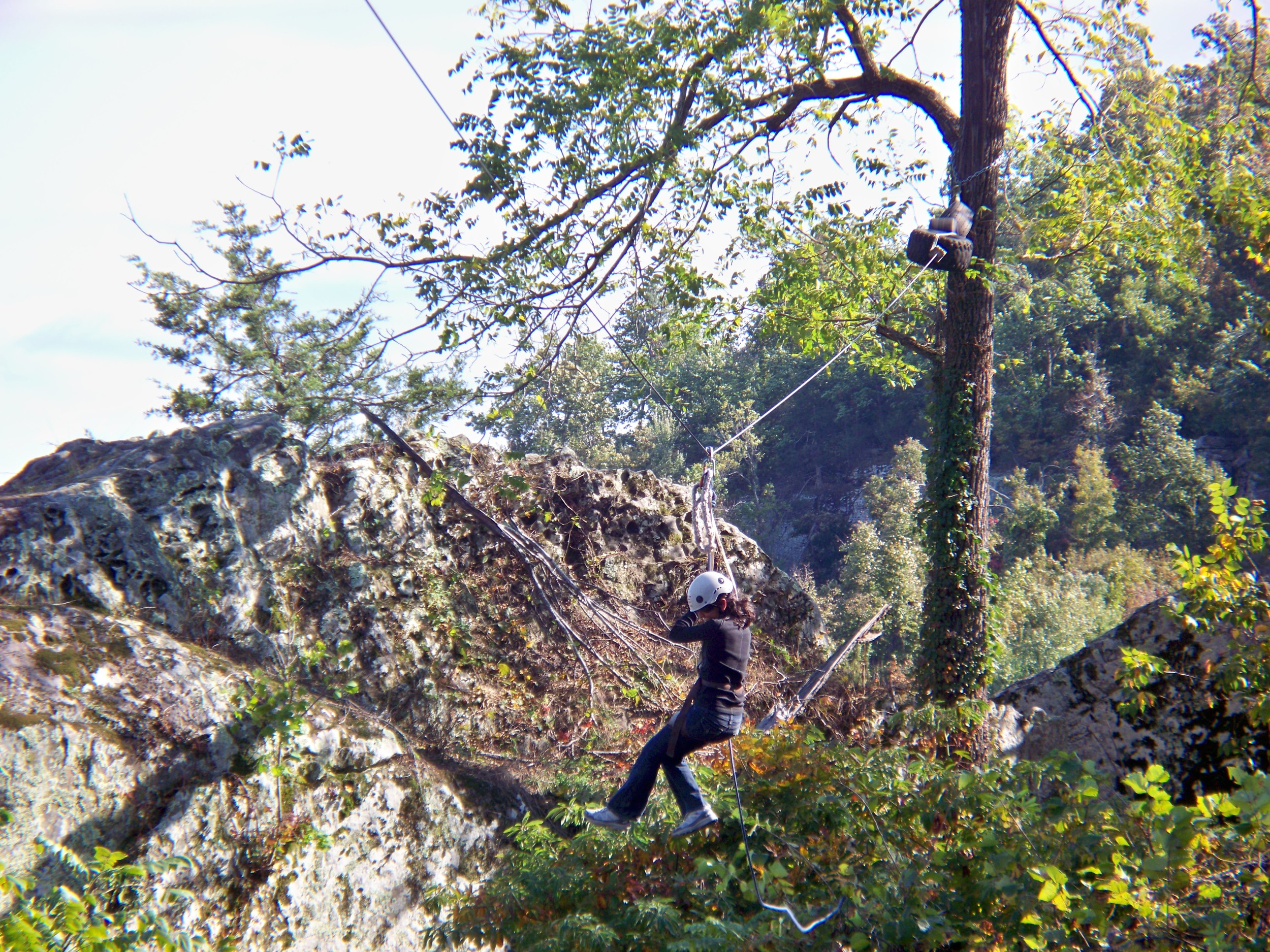 Zip line at Horseshoe Canyon Ranch