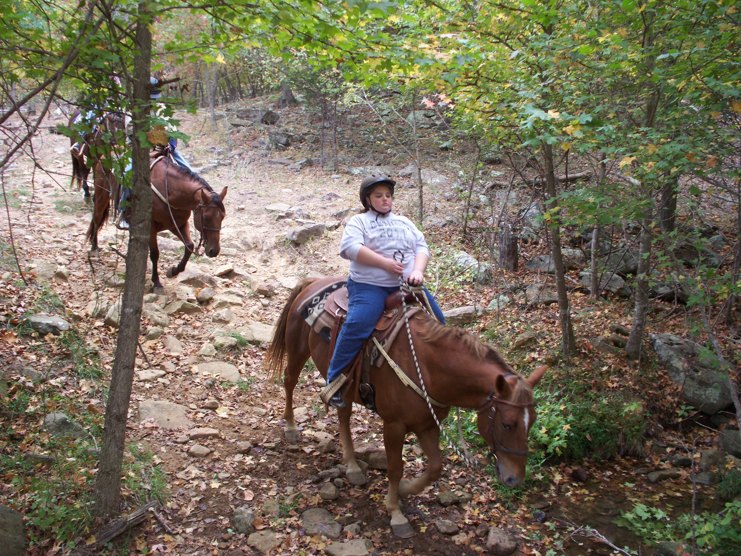 Trail riding at Horseshoe Canyon Ranch