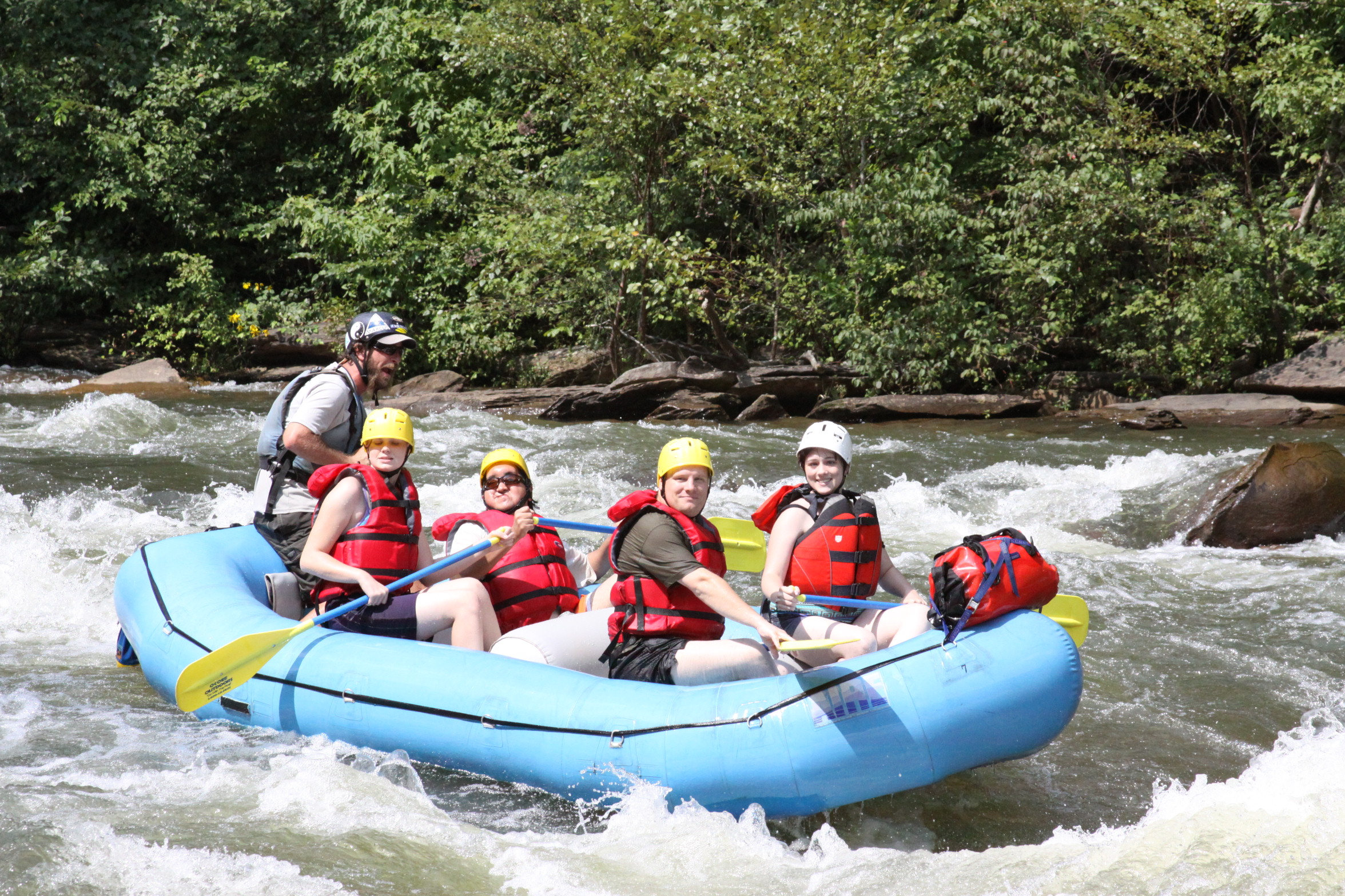 Riley, Daniel, Mark and Dominque after Double Trouble on the Ocoee