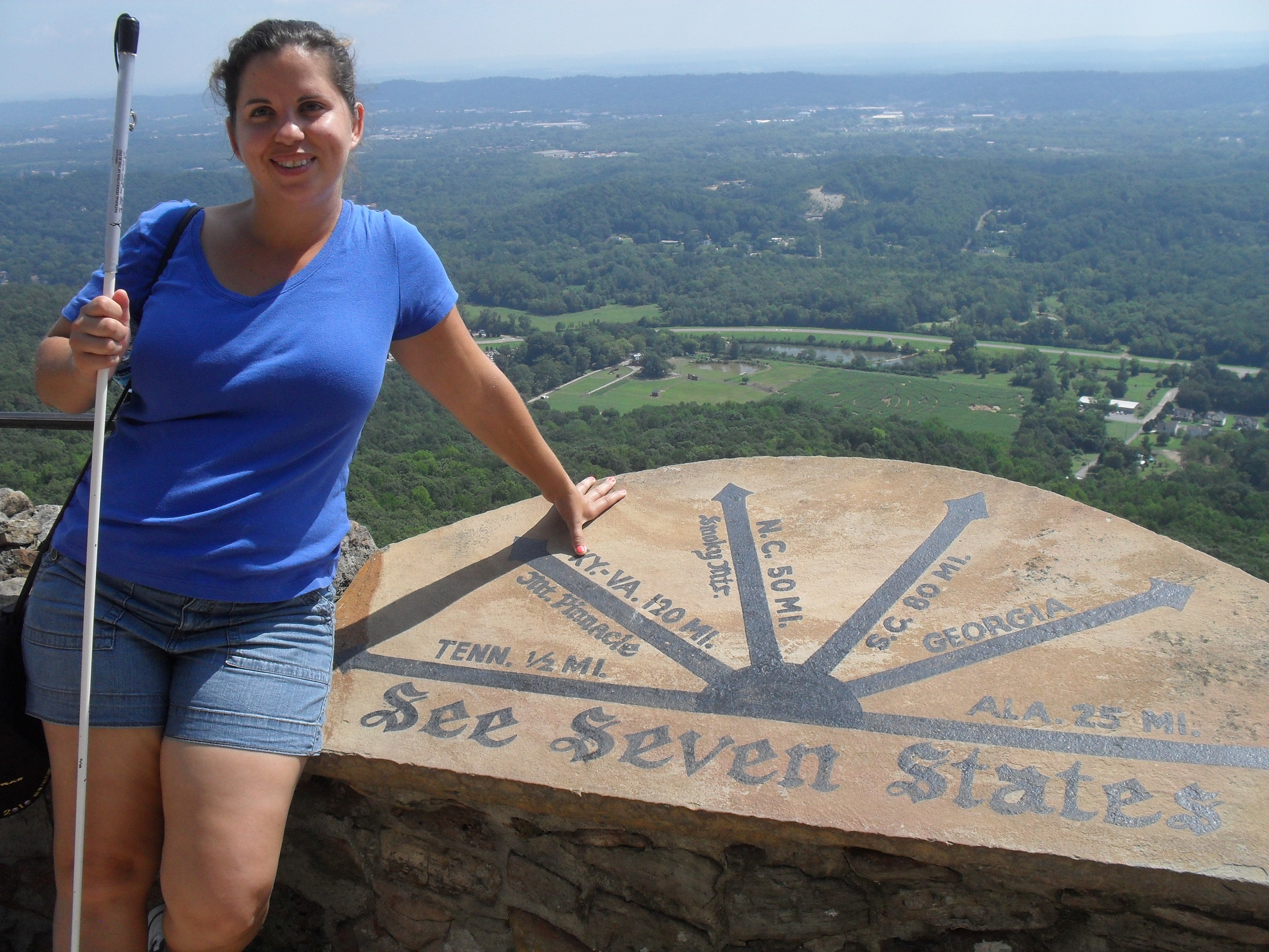 Danielle at the seven state overlook at Rock City