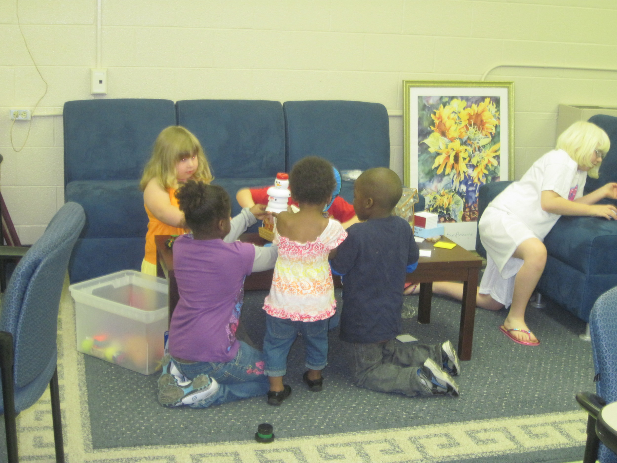 Book and play center fun
