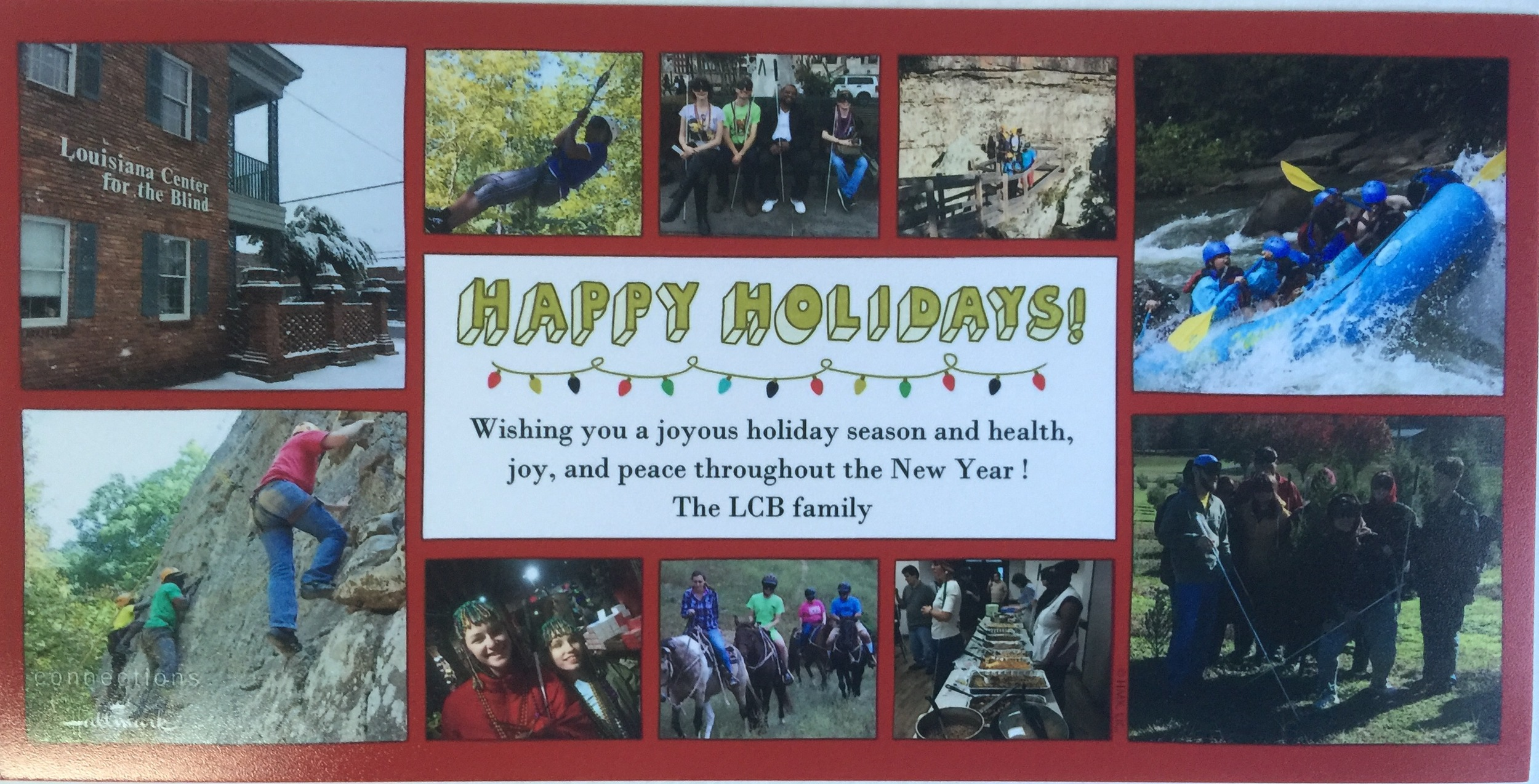 Picture shows the 2016 LCB Christmas card