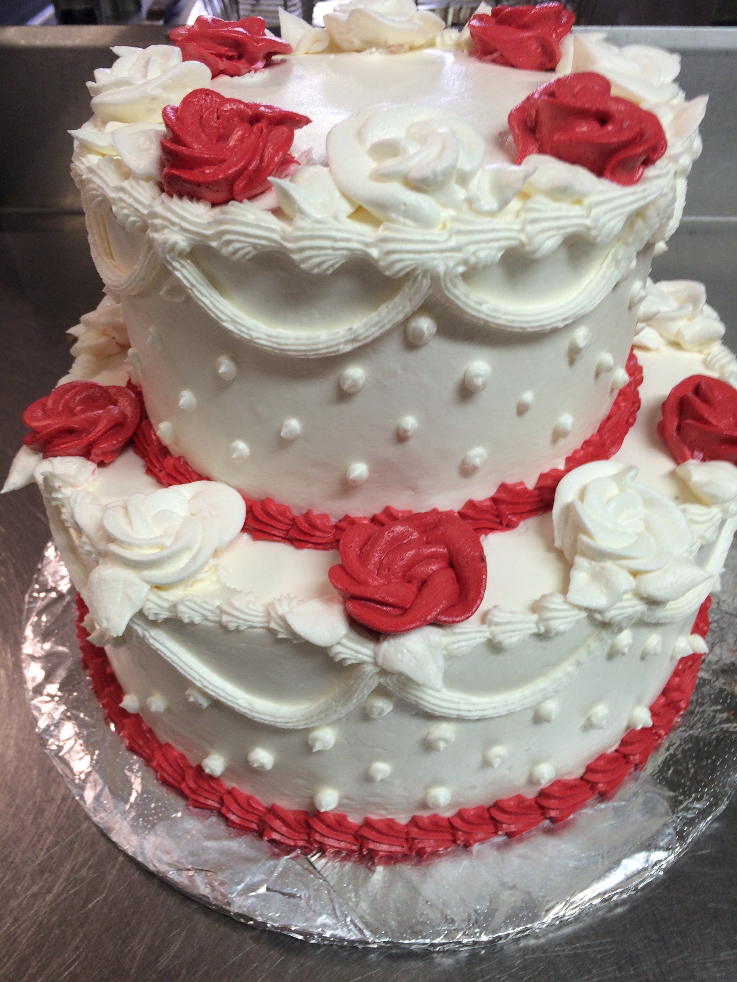 Wedding Cake Red Flowers.JPG