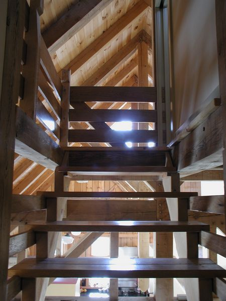 Mountian Farmhouse Stairs into the Silo.JPG