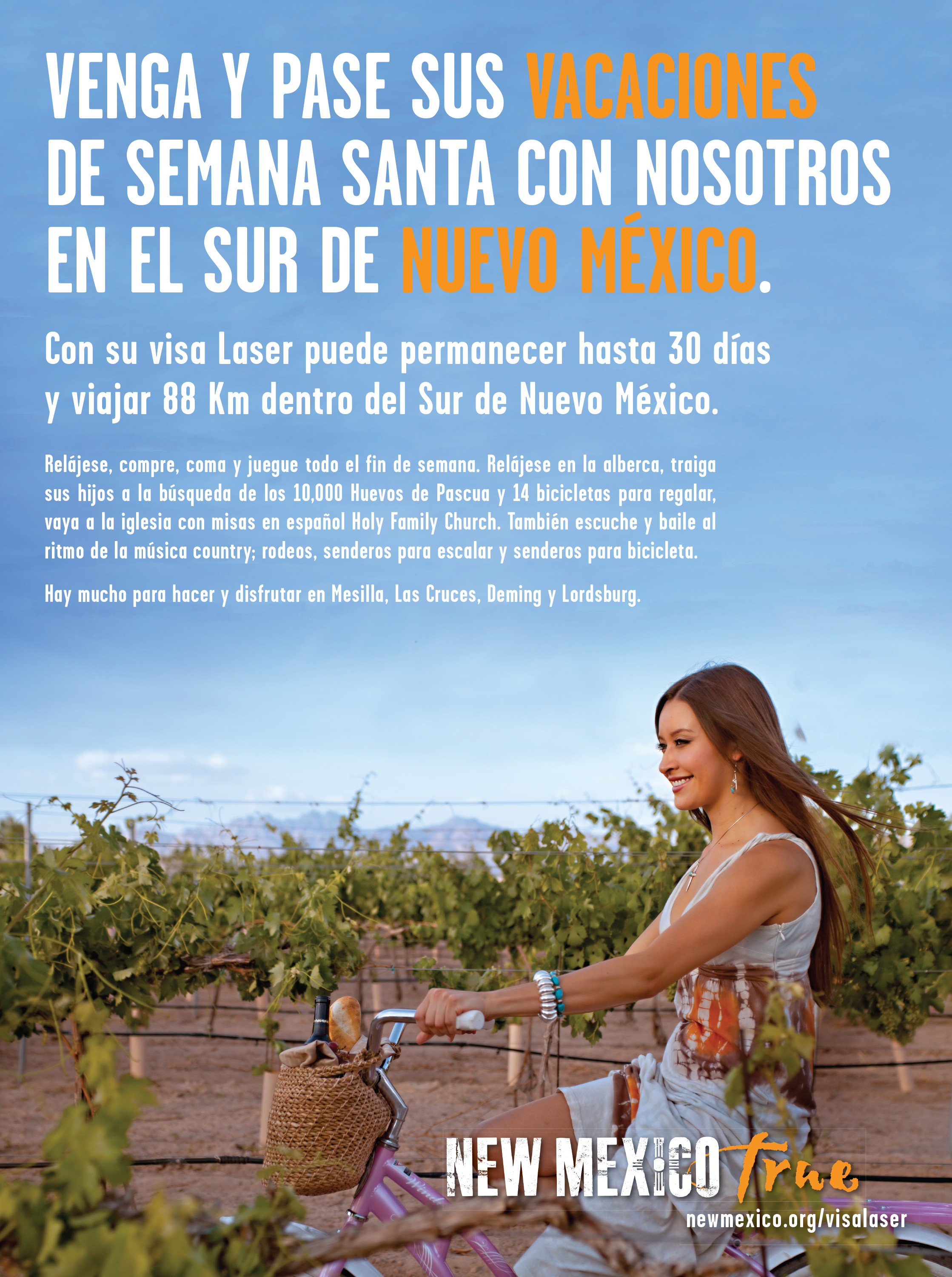 Informational Ad marketing Mexican Nationals to Visit southern New Mexico.