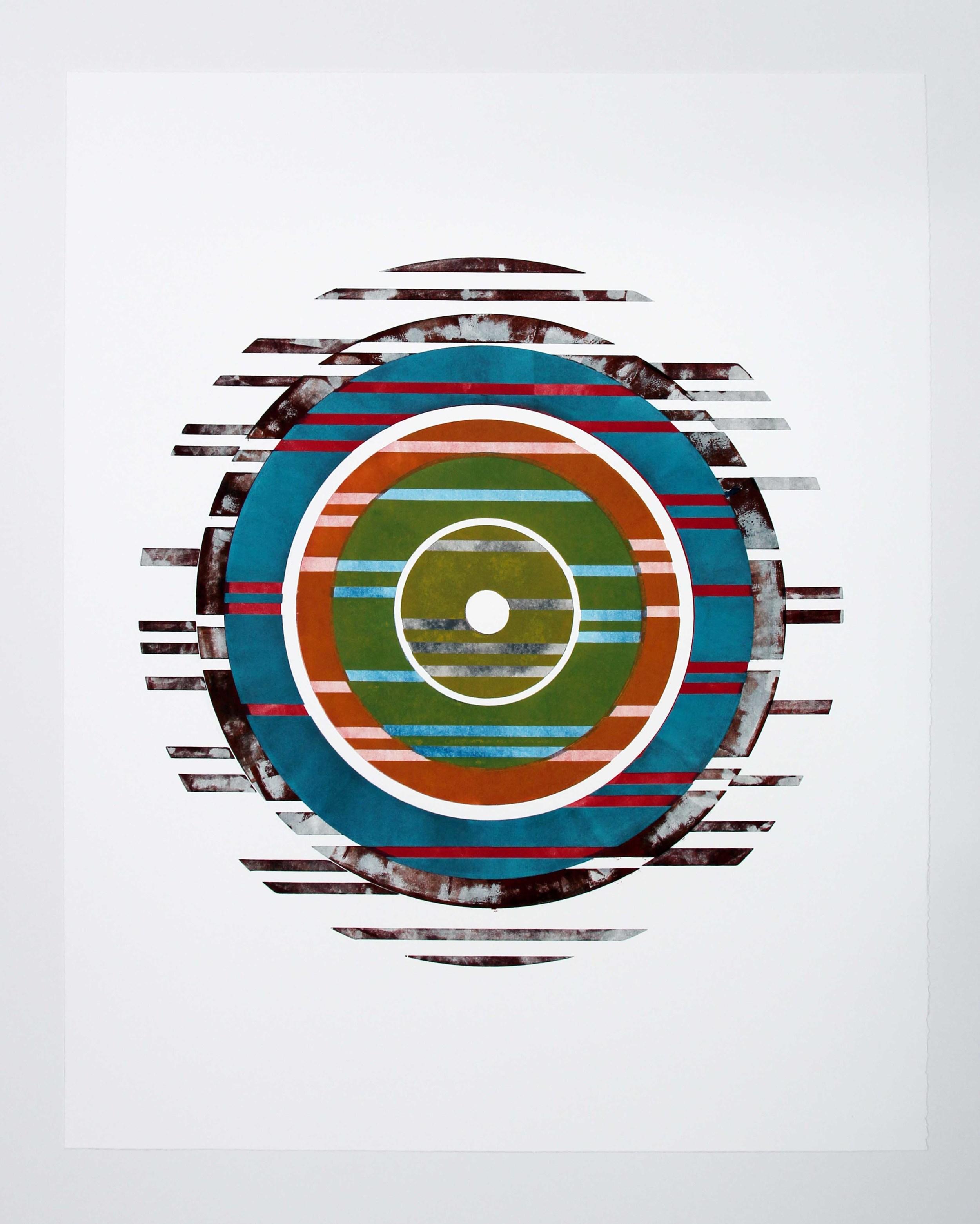 'untitled' woodcut mono print on Revere 'silk', 29 x 36, 2012