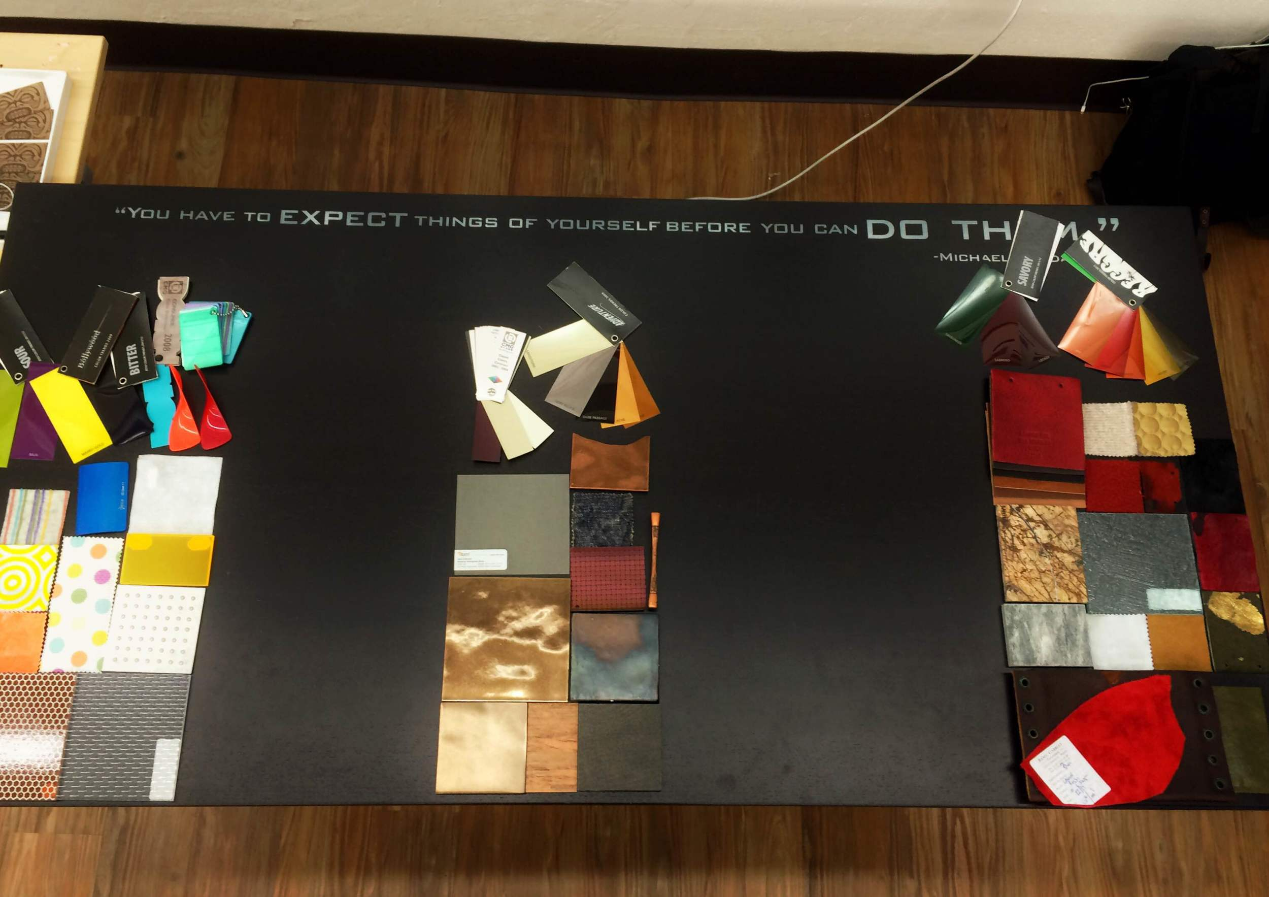 Pulling color and materials for Ikea, West Elm, and The Point Resort, respectively.