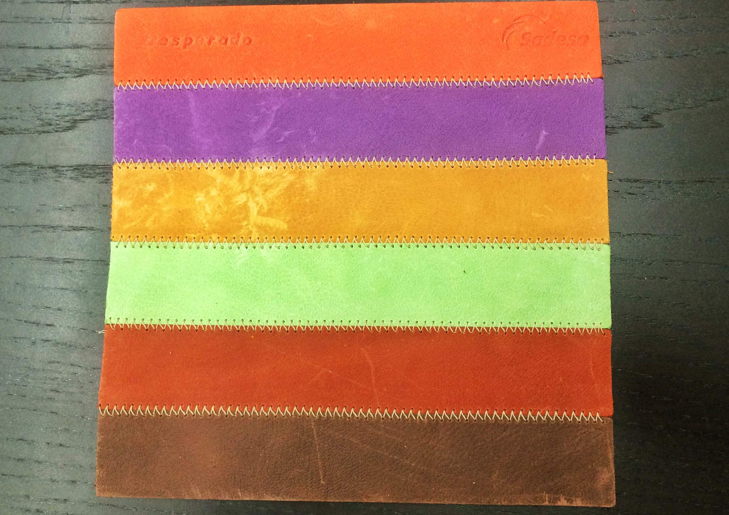 Swatch sample of  Sadesa Leather .