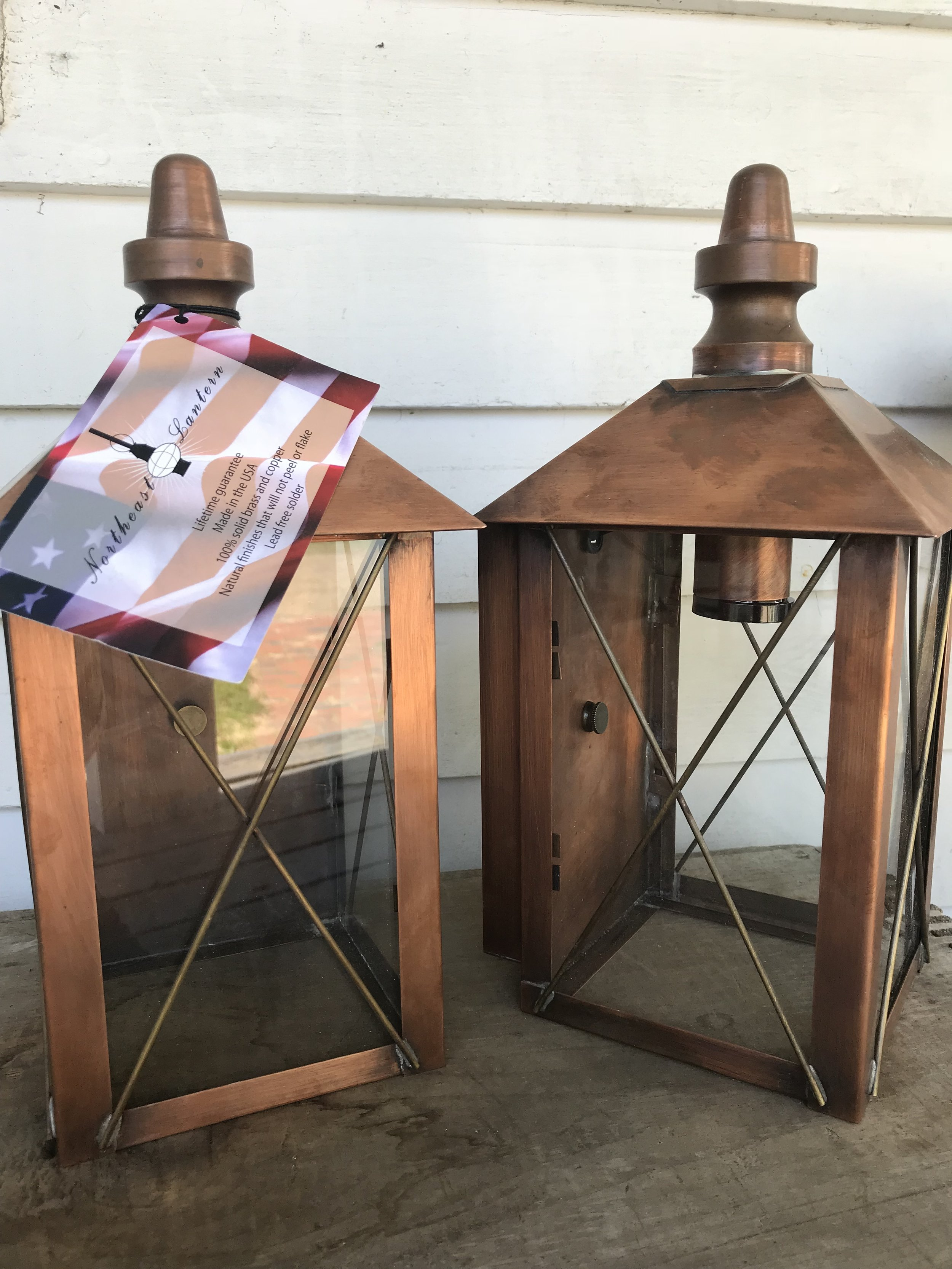 2 Lanterns - A set of two lanterns from Northeast Lantern.$200 value