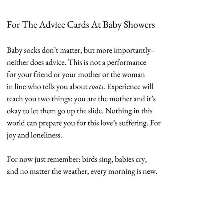 A most excellent poem from @katejbaer. You are the mother. 💪🏼💕