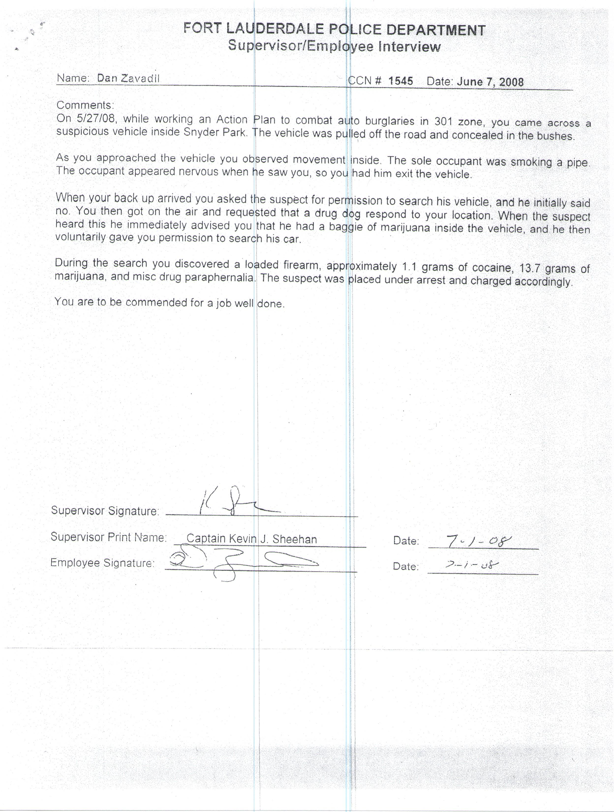 Commendation for Arrest of Armed Drug Suspect.jpg
