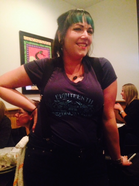 Stephanie from La Margarita Indy rocking the 18th Ladies shirt!