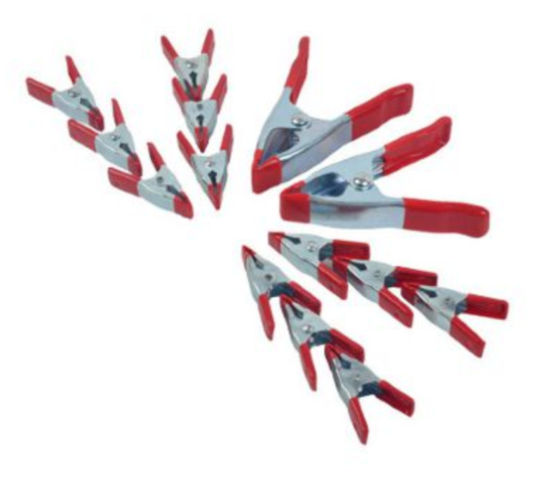 (10) SMALL, (10) MEDIUM, (10) LARGE SPRING CLAMPS