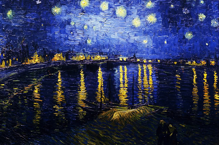 Imagem: Starry Night Over the Rhone - Van Gogh.
