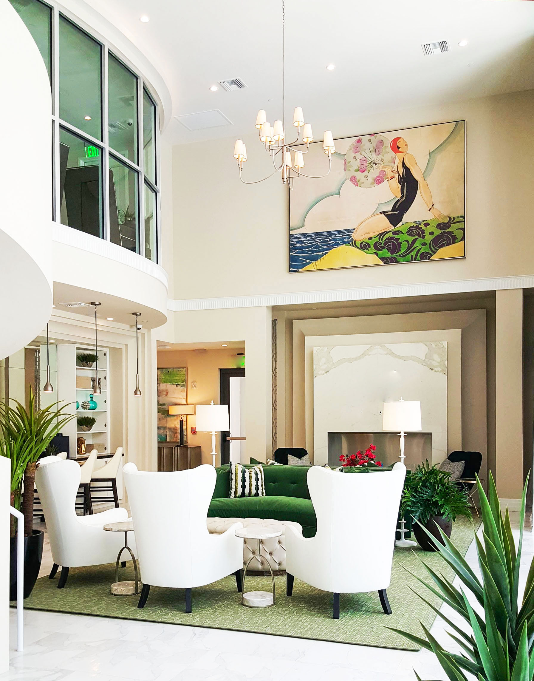 Entryway of the clubhouse of the Fitzgerald by Beasley & Henley Interior Design Tampa.jpg