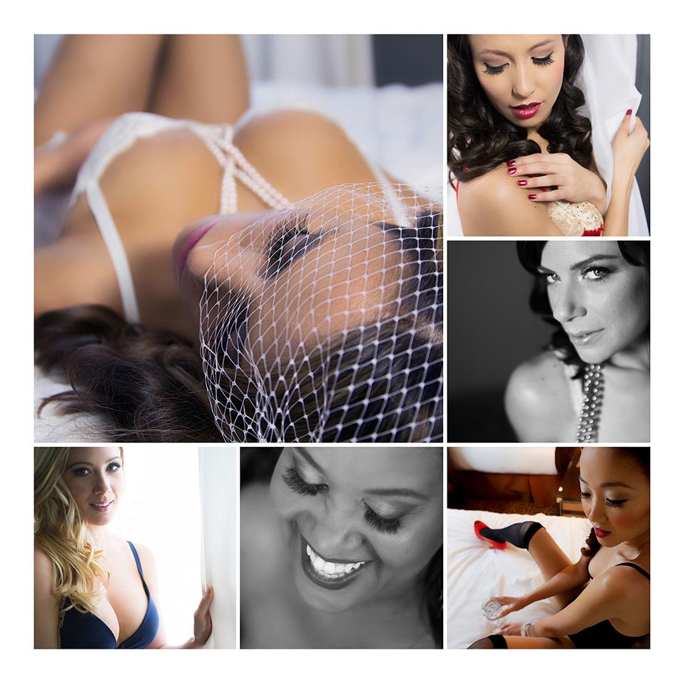 Portfolio collage of past models