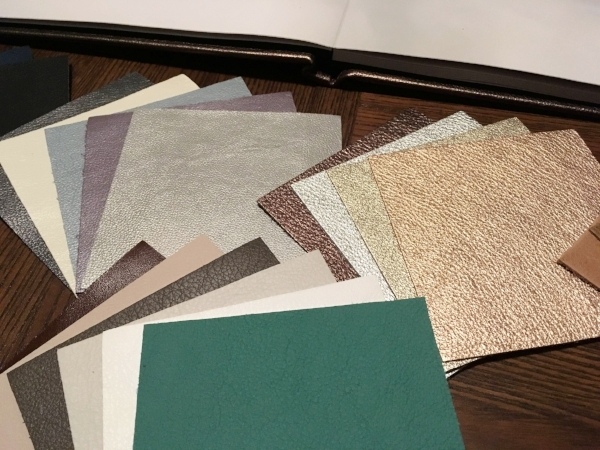Available in standard, distressed, pearlescent and metallic Italian leather options