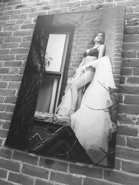 Boudoir photograph  on  giclée canvas