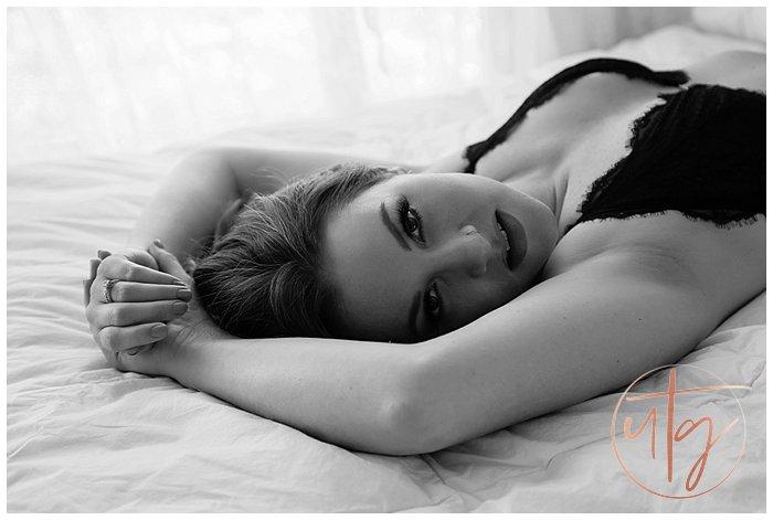 boudoir photography denver bw bed portrait.jpg