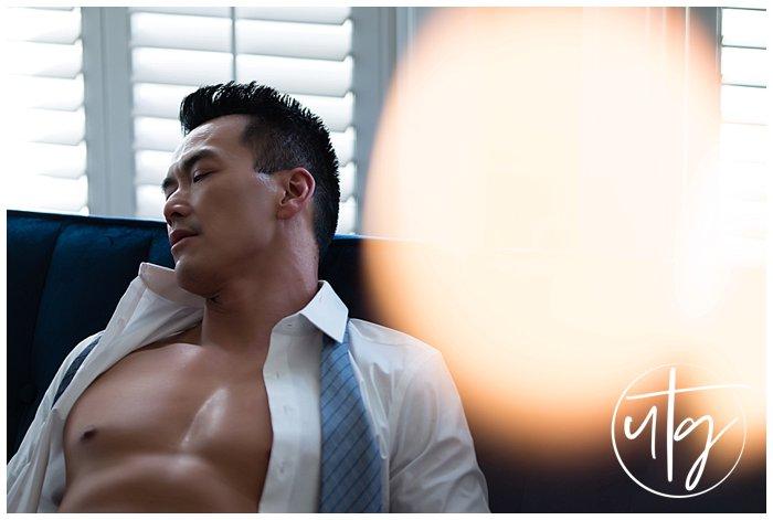 male boudoir dudoir photography denver dress shirt tie.jpg