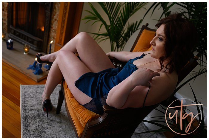 boudoir photography denver orange chair regal blue slip.jpg