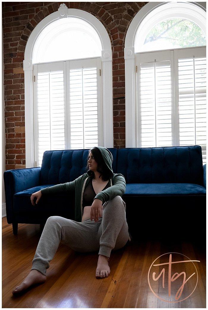boudoir photography denver colorado androgynous hoodie windows.jpg