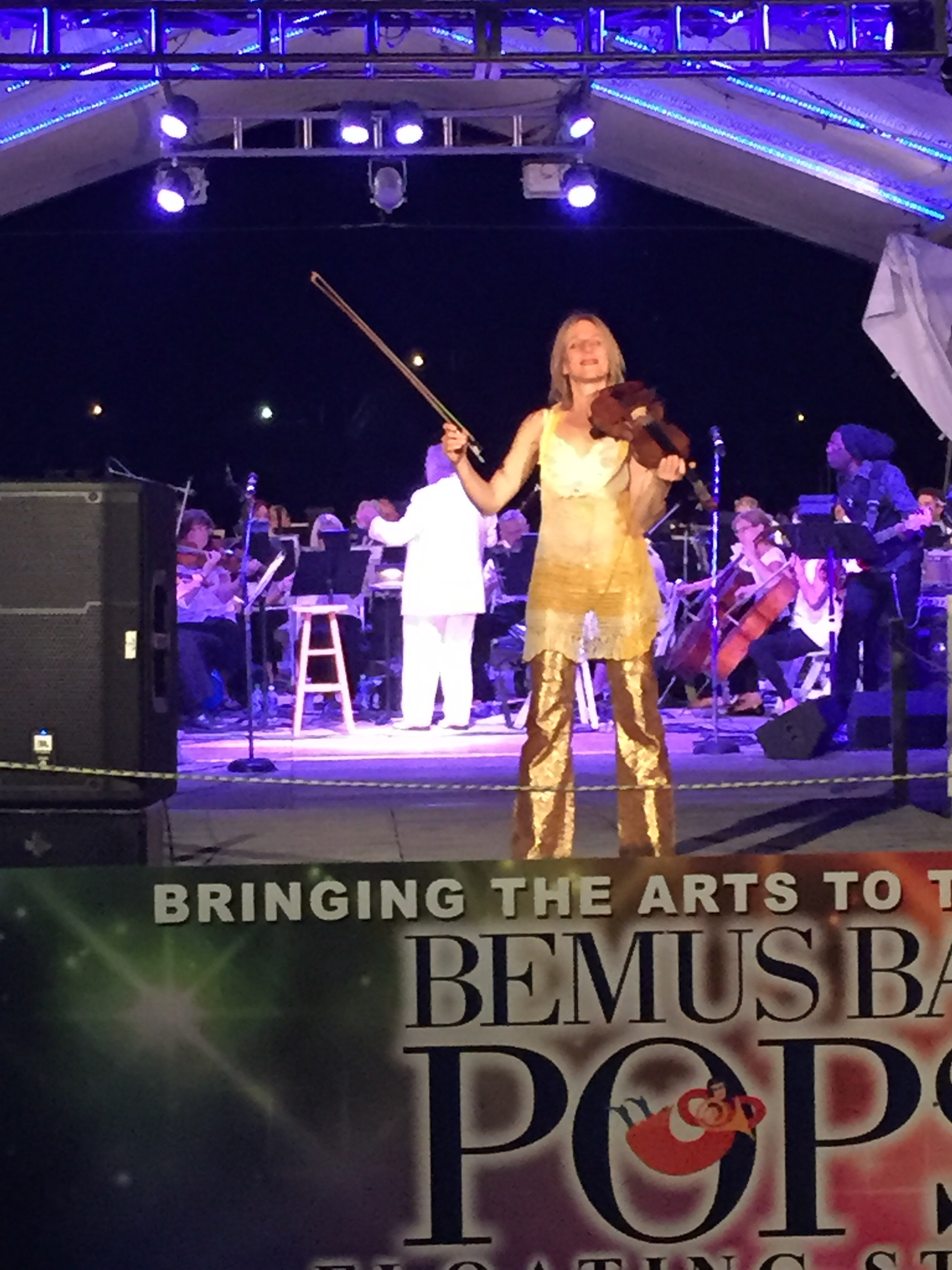 Wonderful Bemus Bay Pops orchestra conducted by John R. Marcellus