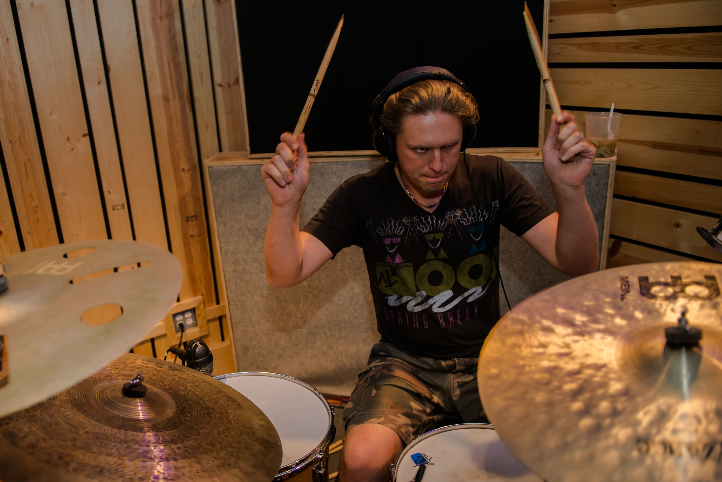 Matt Zebroski on drums